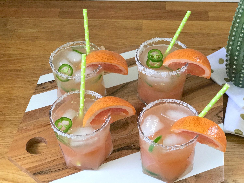 Make Spicy Grapefruit Margaritas!