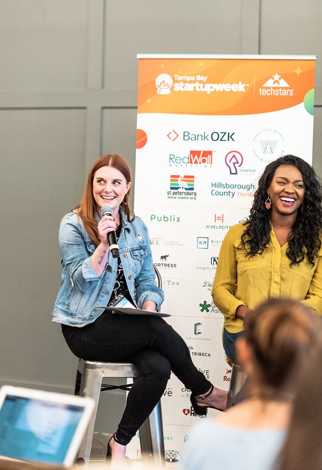Social media panel moderated my Babe Crafted featuring Kristin Berry of The Dashing Ginger (Member since Jan. '18) and Danielle Jackson of Stride Media Group (Member since Nov. '18) // Photo by Christina Jones Photography