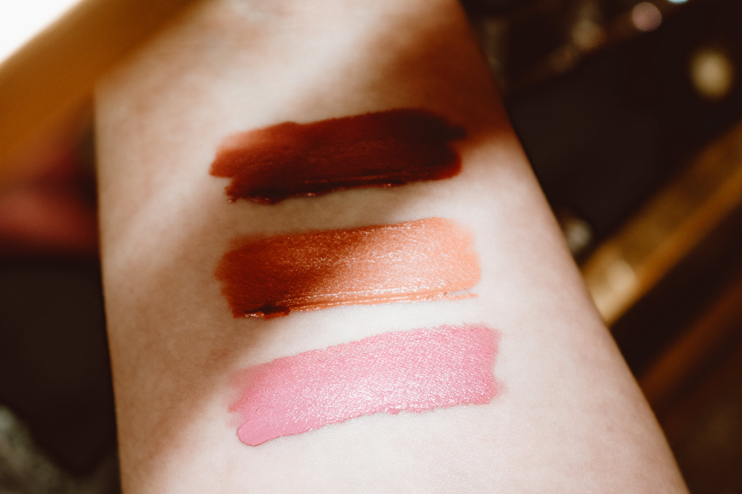 From top to bottom: Lawless Soft Matte Liquid Lipstick in George, Leo and Jake.