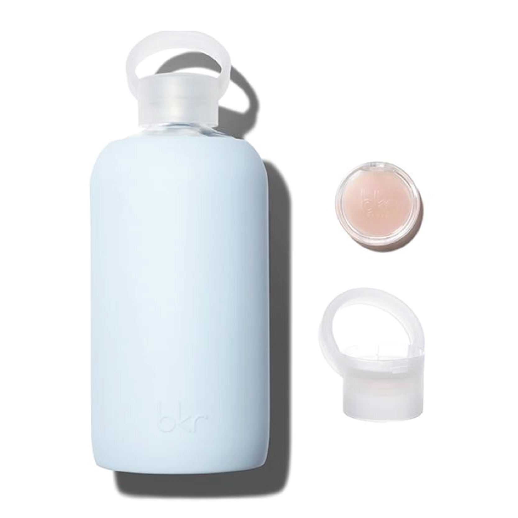 bkr Big Grace Kiss Kit - On sale for $59 on bkrBkr makes some of the chicest water bottles, that are super durable because of the glass coated in rubber. They recently launched a lip balm cap set that will keep both your body and your lips hydrated!