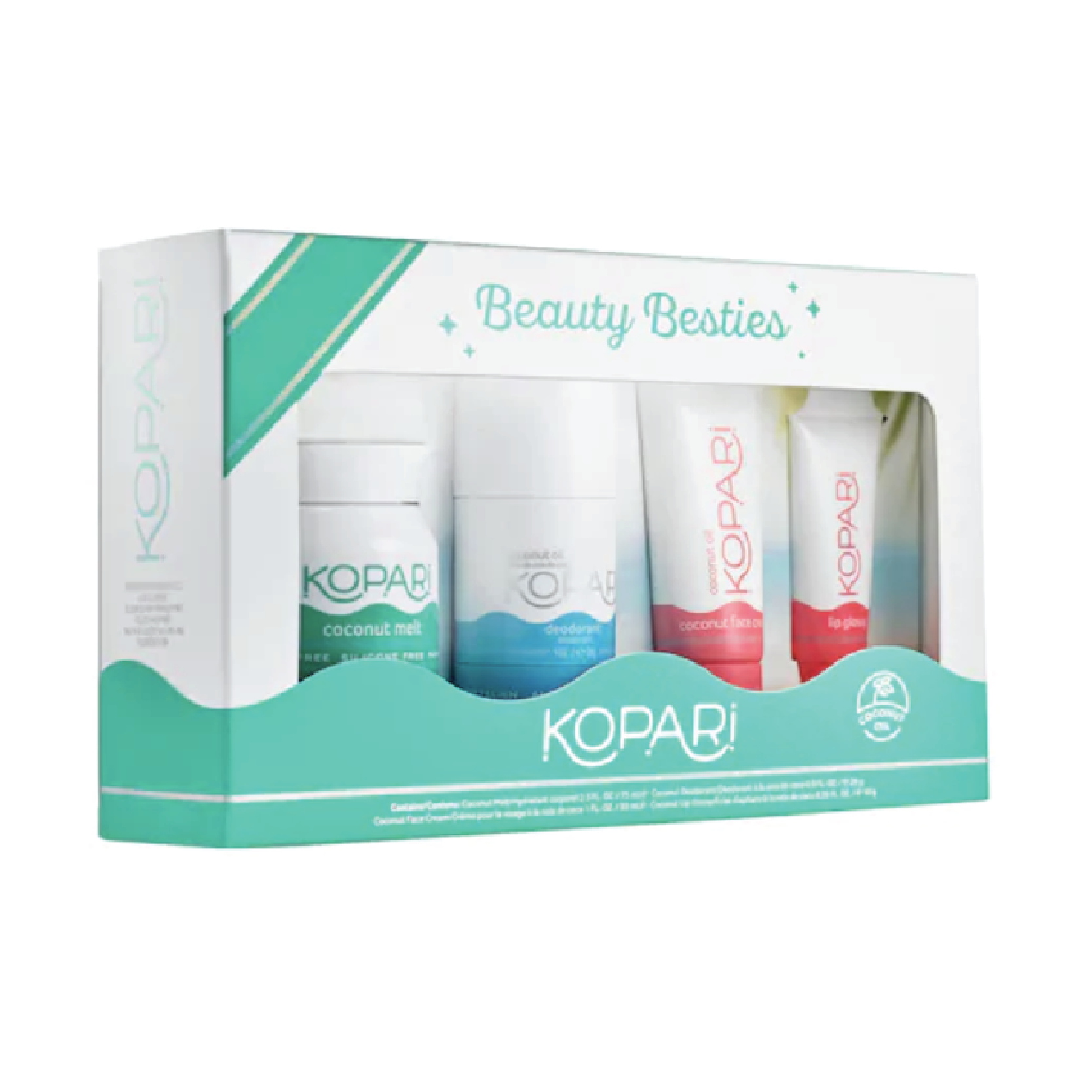 Kopari Beauty Besties Kit - $40 at SephoraKnow someone obsessed with coconut oil? This brand has completely clean ingredients that provide extreme moisture. I'm a personal fan of their Coconut Melt and love this brand as a whole.