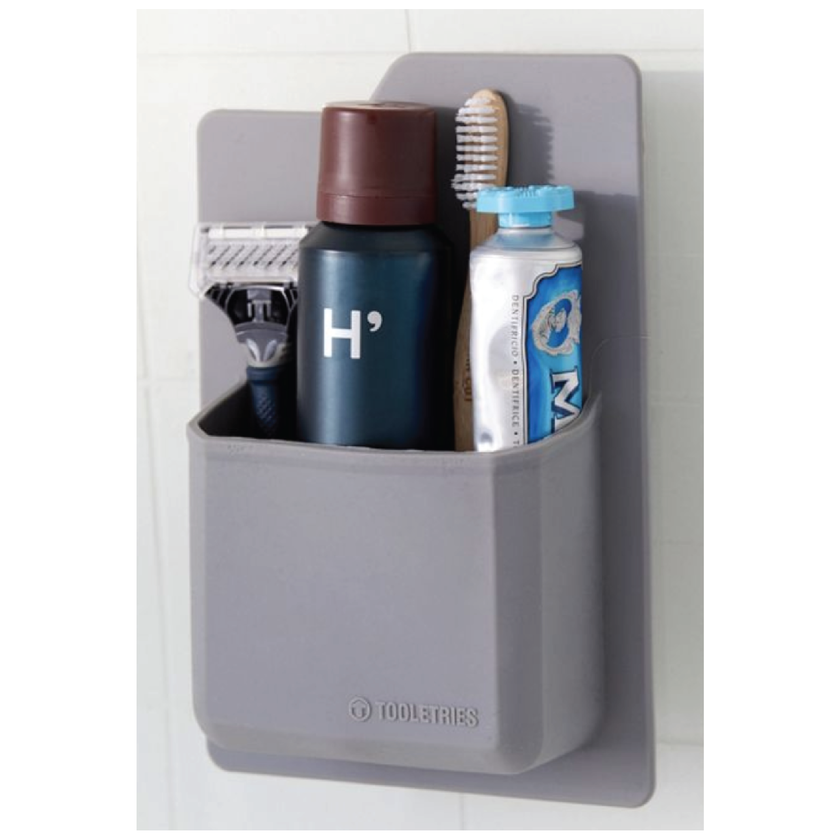 Tooletries Toiletry Wall Organizer - $20 at Urban OutfittersIs your man always complaining how he doesn't have any cabinet or shelf space? Stop the complaining with this minimal wall organizer.