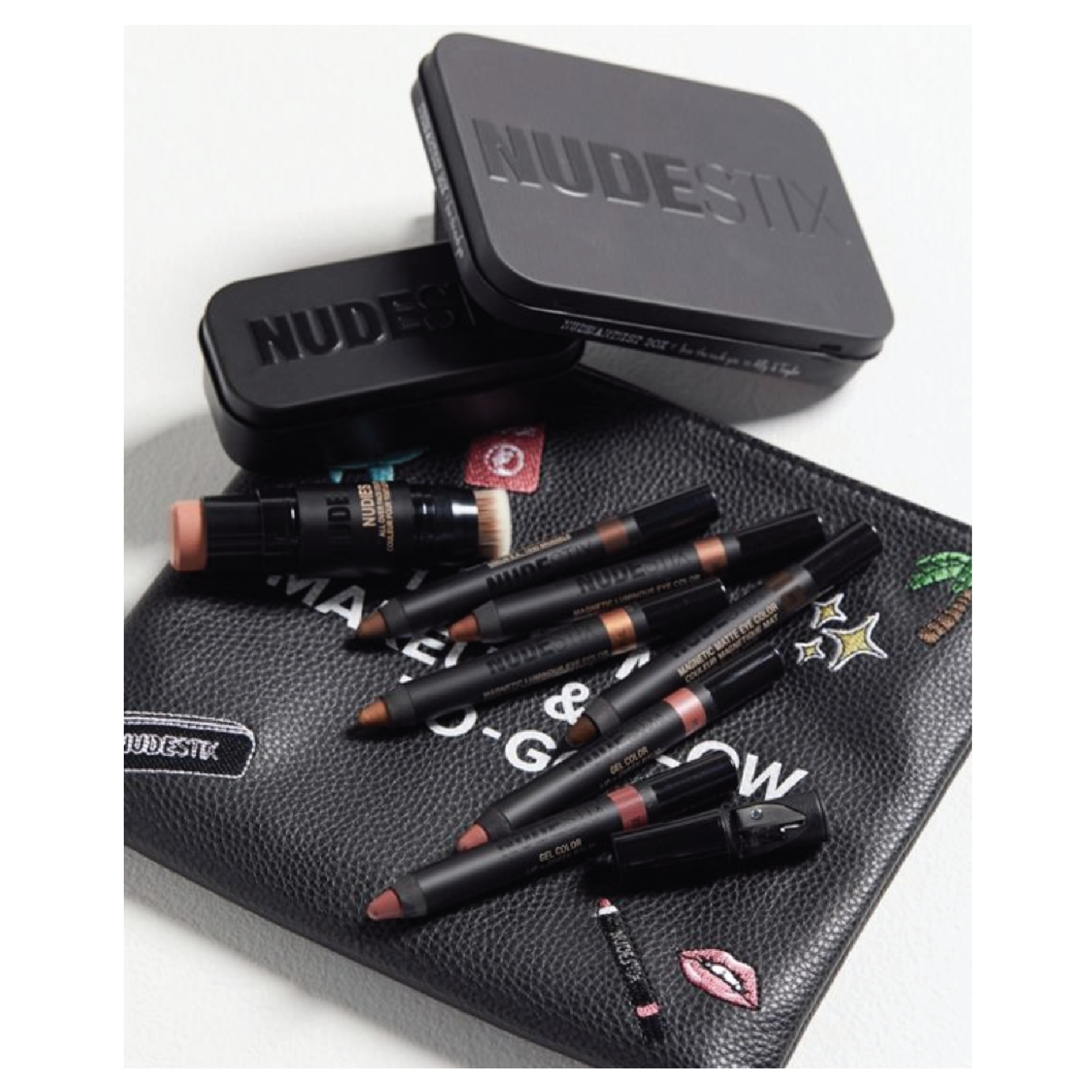 Nudestix x Mary Phillips The Jetsetter Set - $69 at Urban OutfittersI love the convenience of just swiping on a color and getting out the door. This is the prettiest stick set and I love the sisters behind this brand!