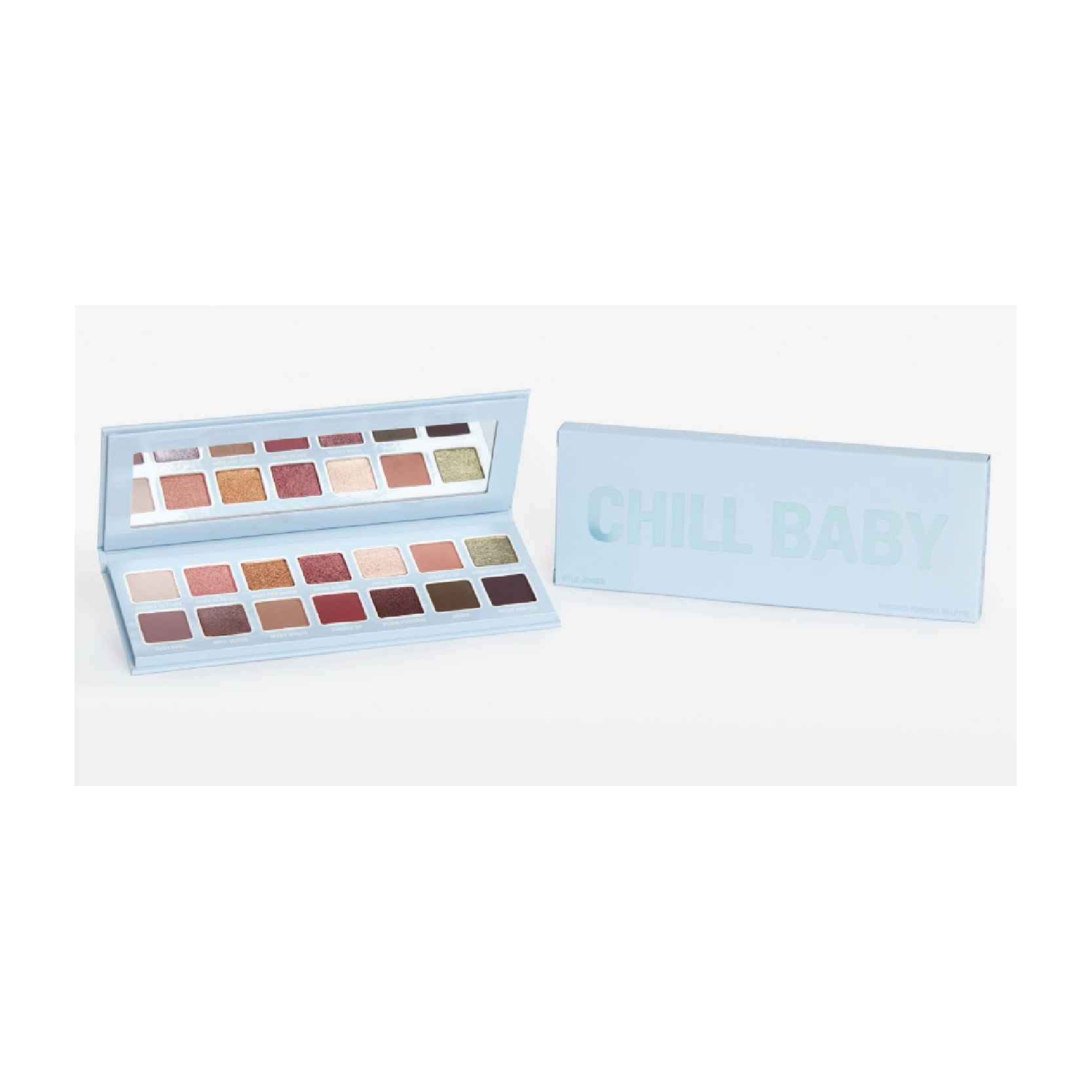 Kylie Cosmetics Chill Baby Pressed Powder Palette - $44 at Kylie CosmeticsThis is the cutest holiday eyeshadow palette that I am so obsessed with.
