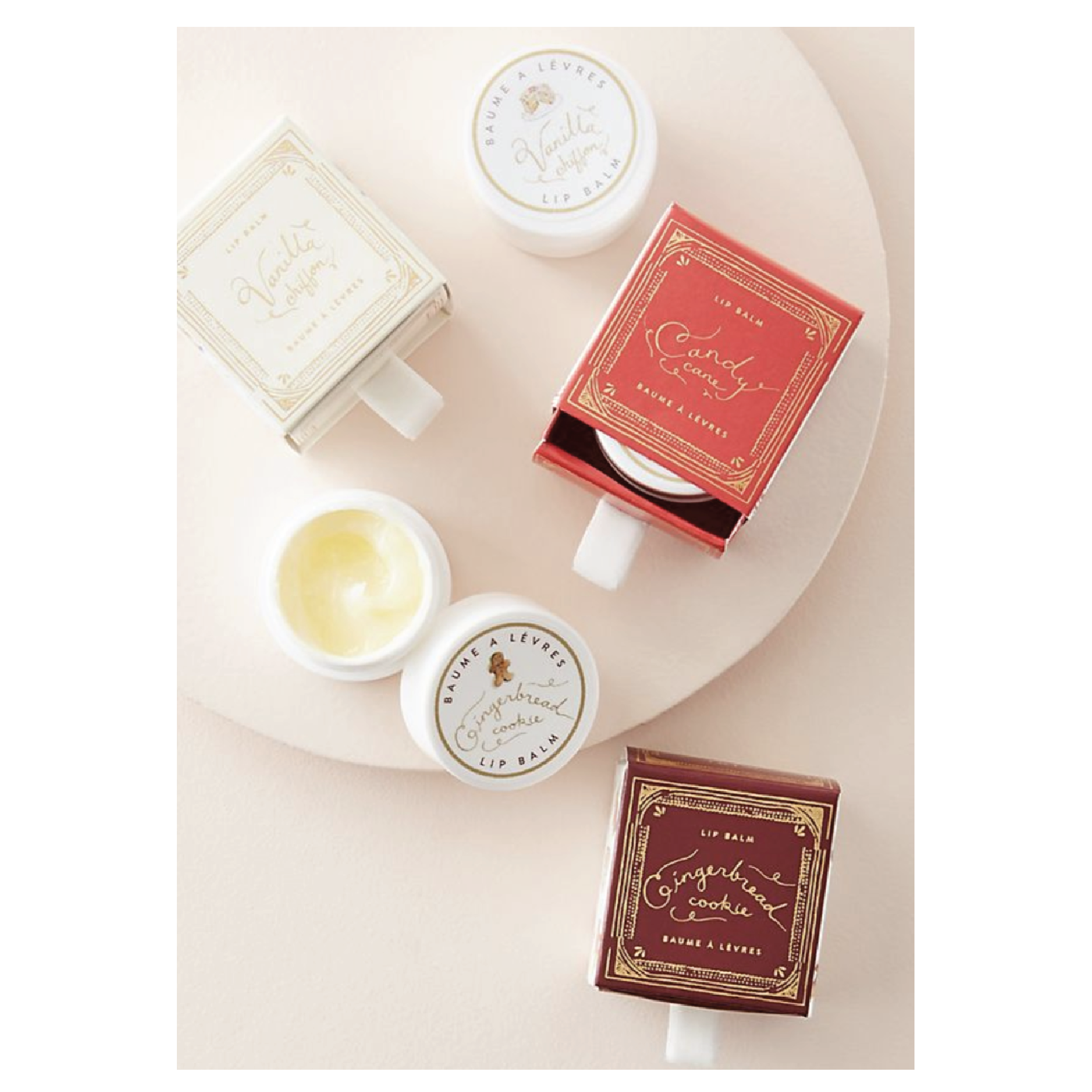 Mini & Merry Lip Balm - $12 at AnthropologieThese are the cutest little lip balms, and plus side is you don't even really need to wrap them!