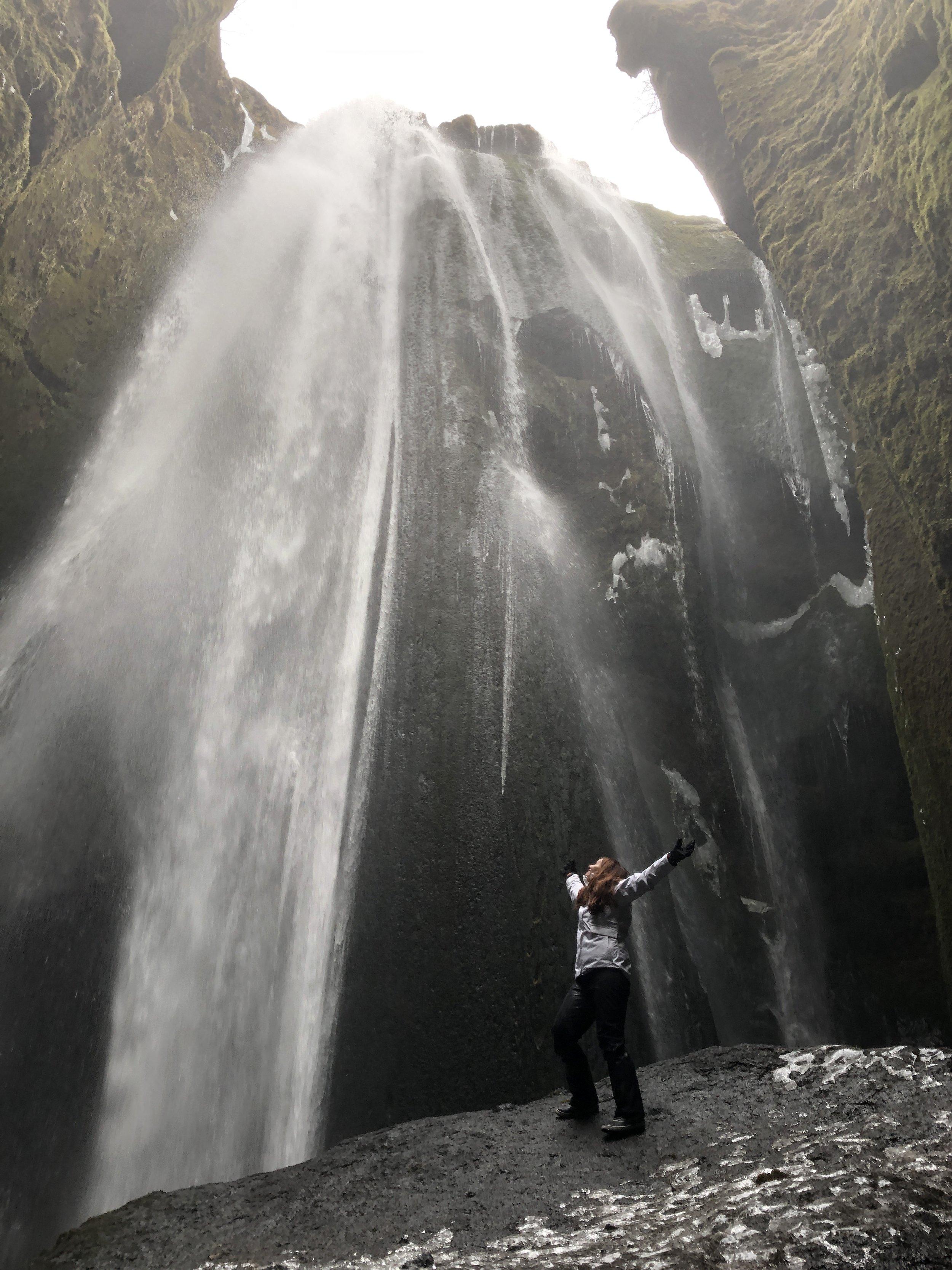 Shan at waterfall.JPG