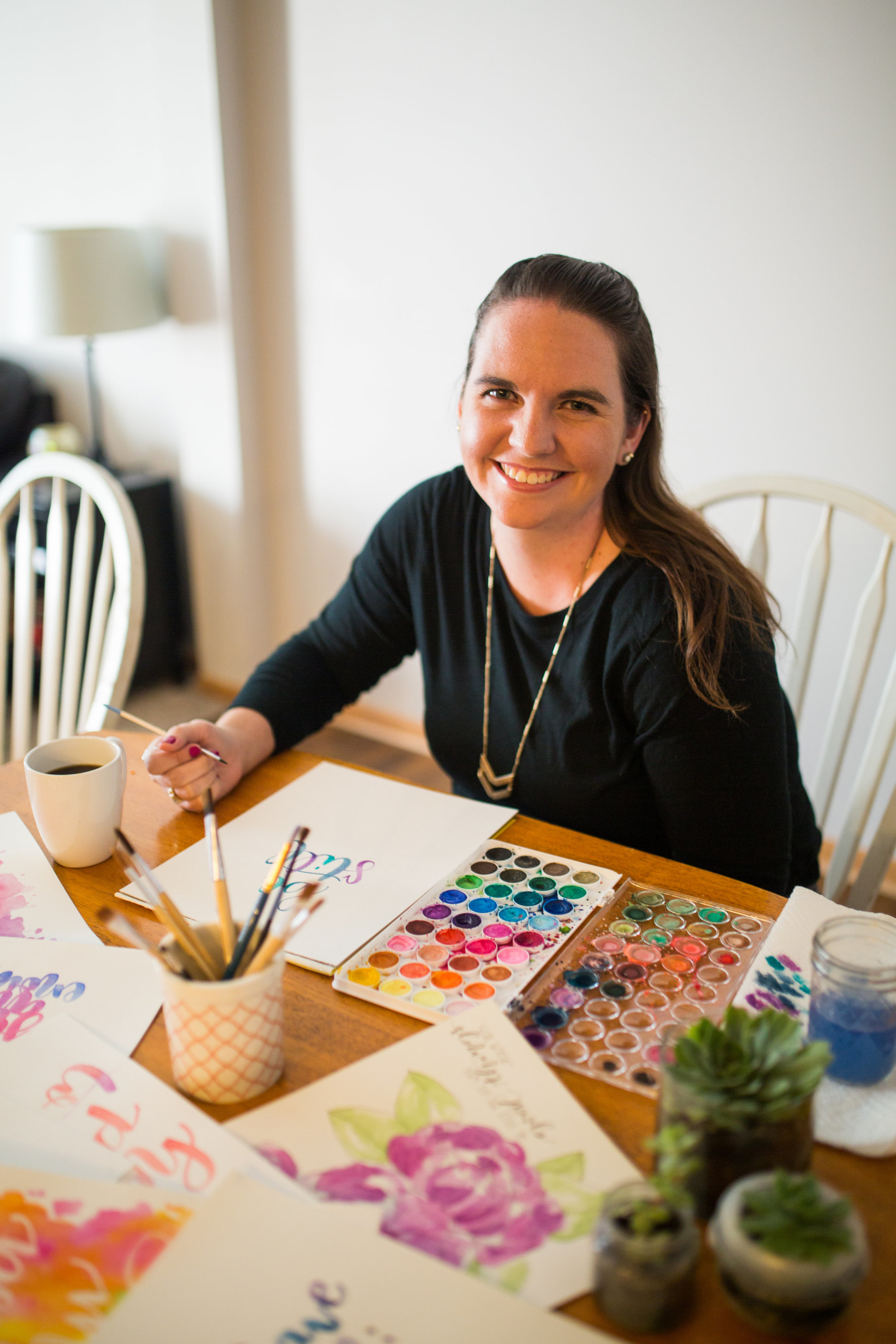 Meet Jillian - Jillian Cram is a freelance artist in Minneapolis, Minnesota, specialising in hand-lettering and watercolor pieces. From wedding invitations, to watercolor flowers, and everything in between, she creates custom, one-of-a-kind artwork that tells a story.
