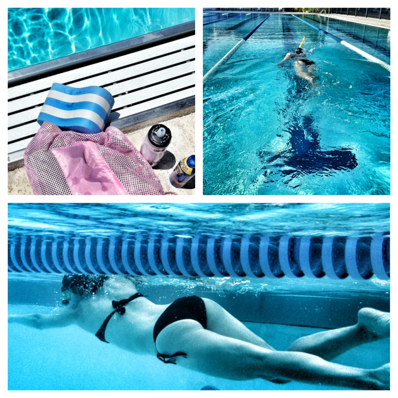 Pregnant, swimming newbie - snorkel and all...