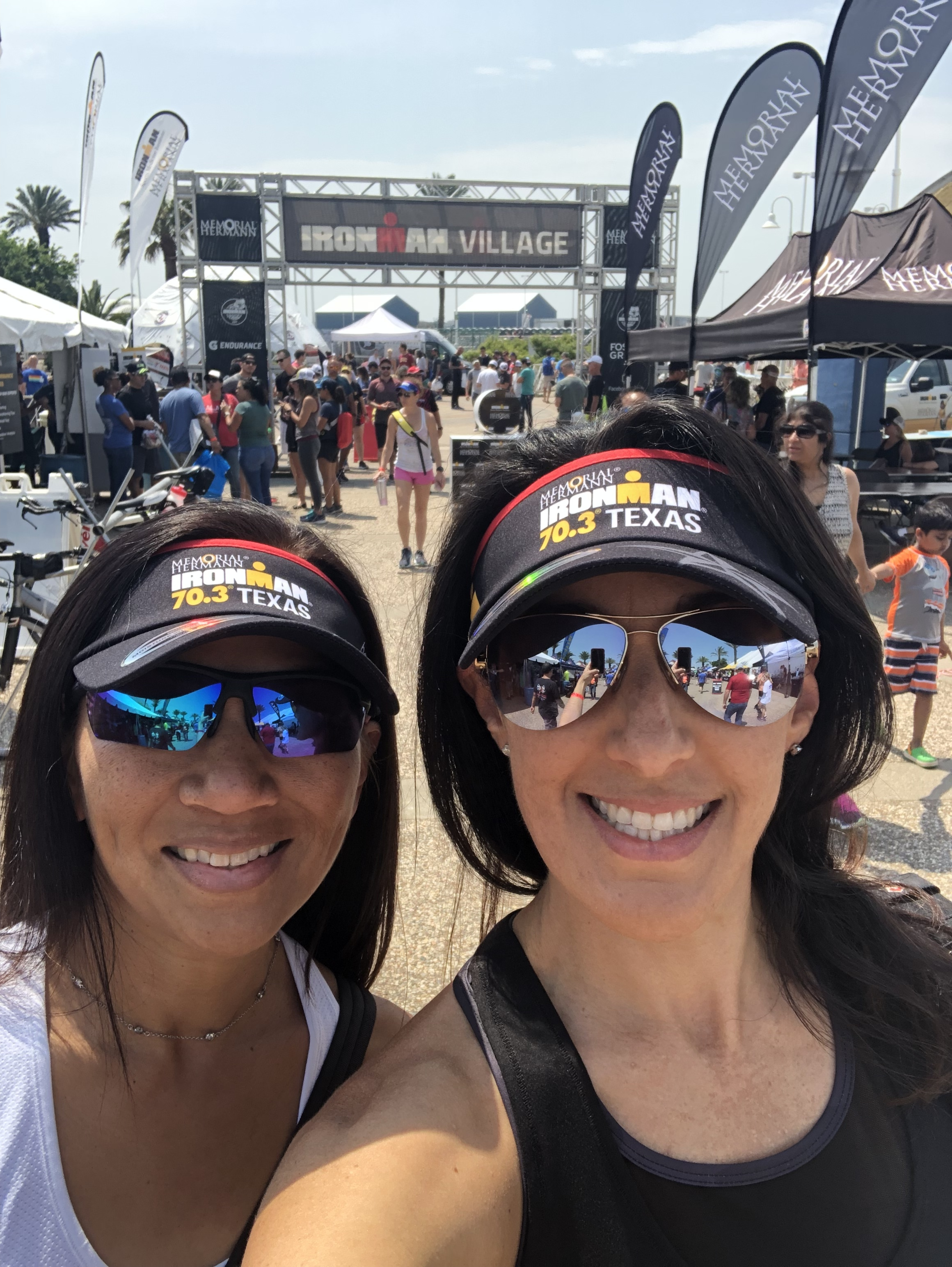 With our new IM70.3 Texas visors!