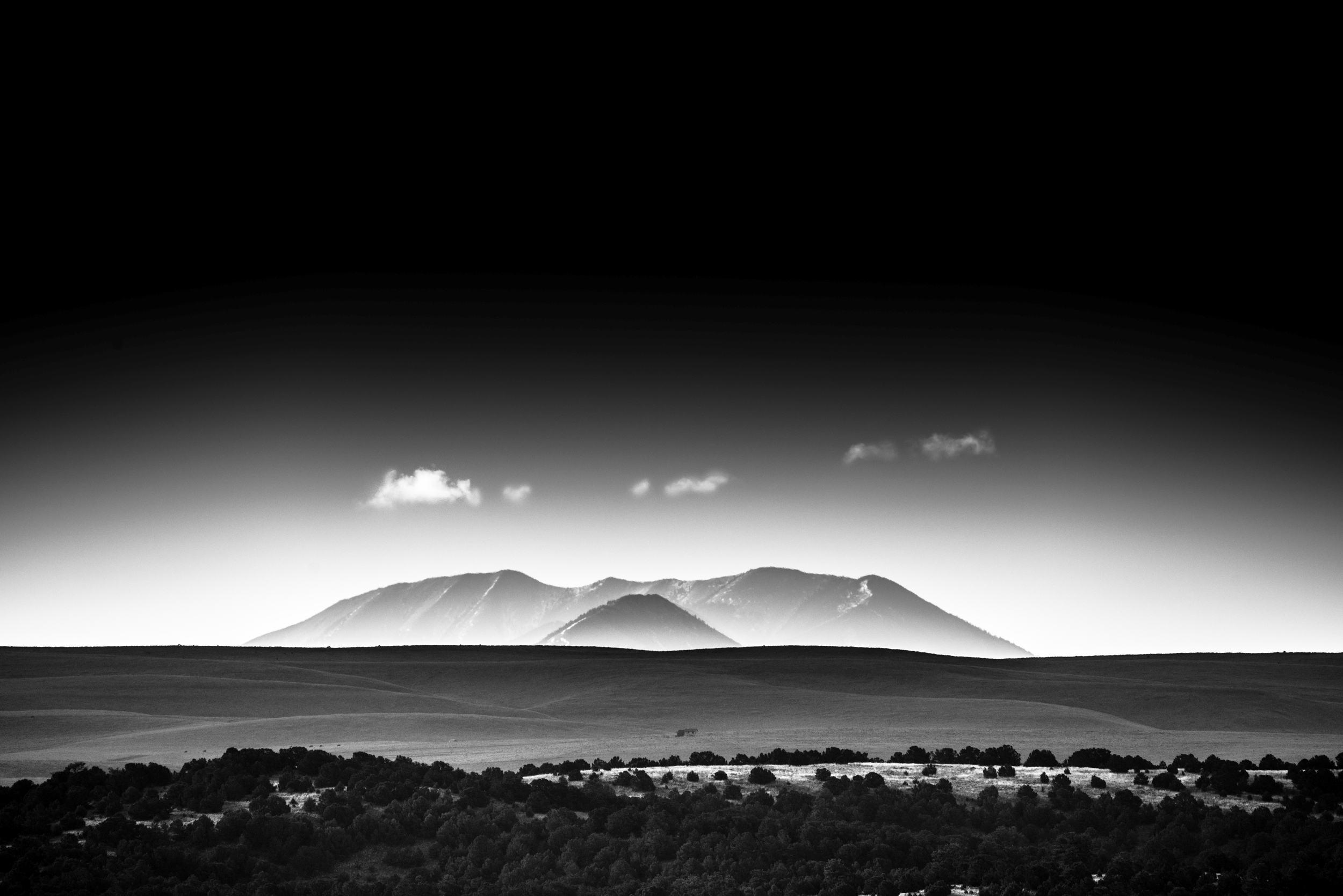 Spanish Peak Morning I BW.jpg