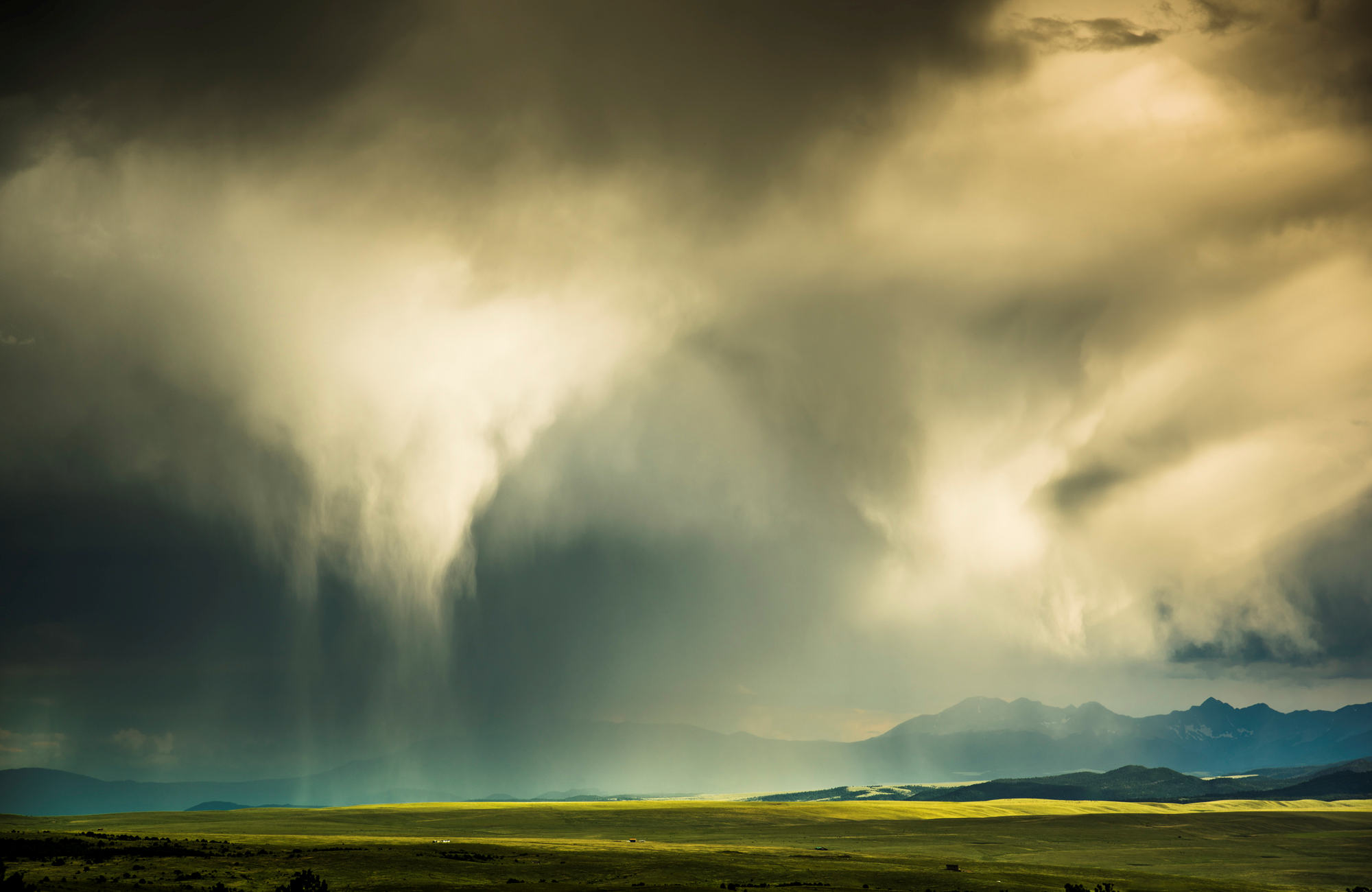 Rain Clouds Over Valley