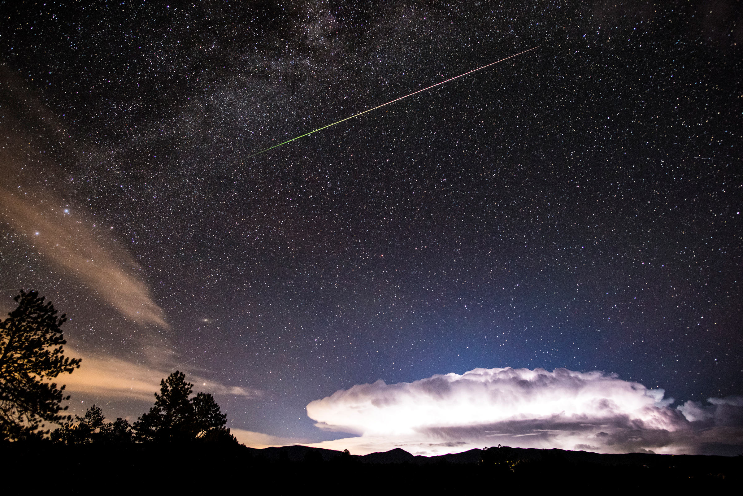 Meteor and Lightning
