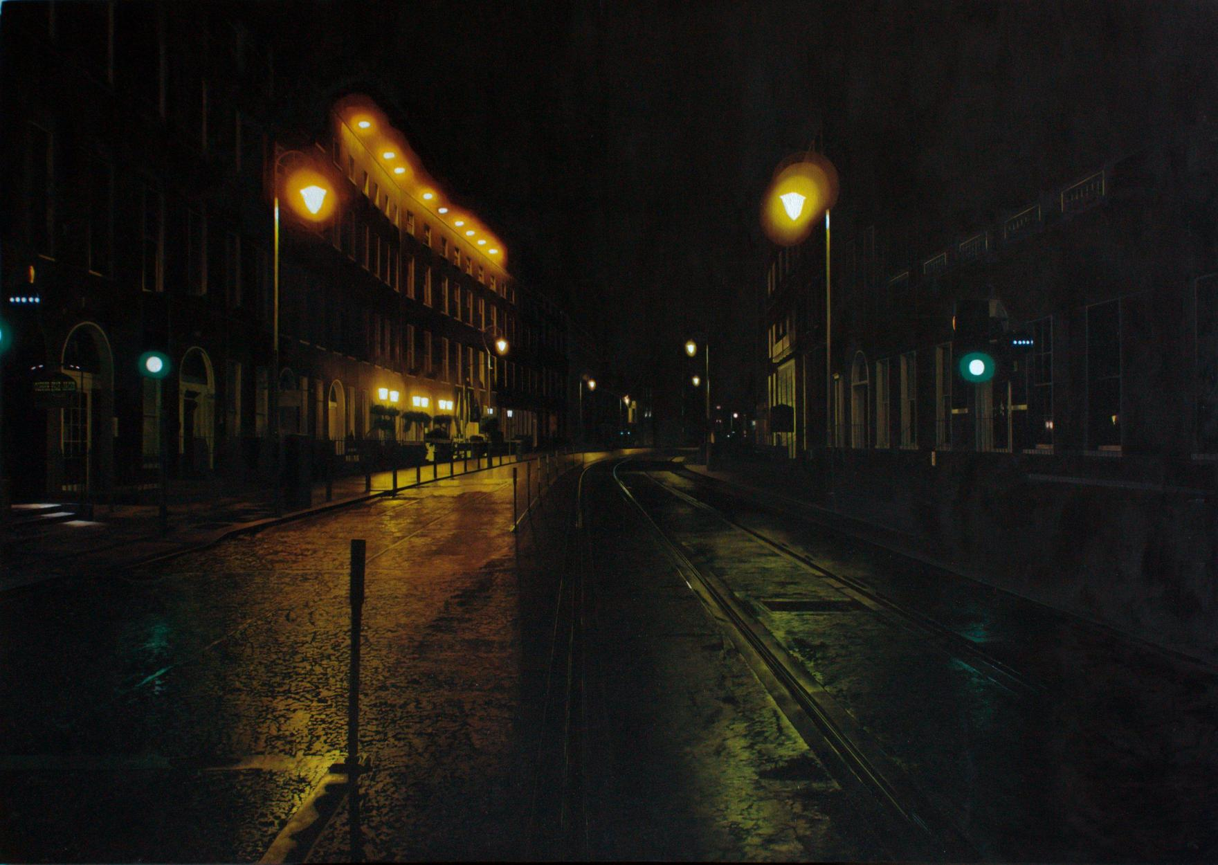 Francis Matthews,  Harcourt Street , 2015, oil on canvas 80x120cm