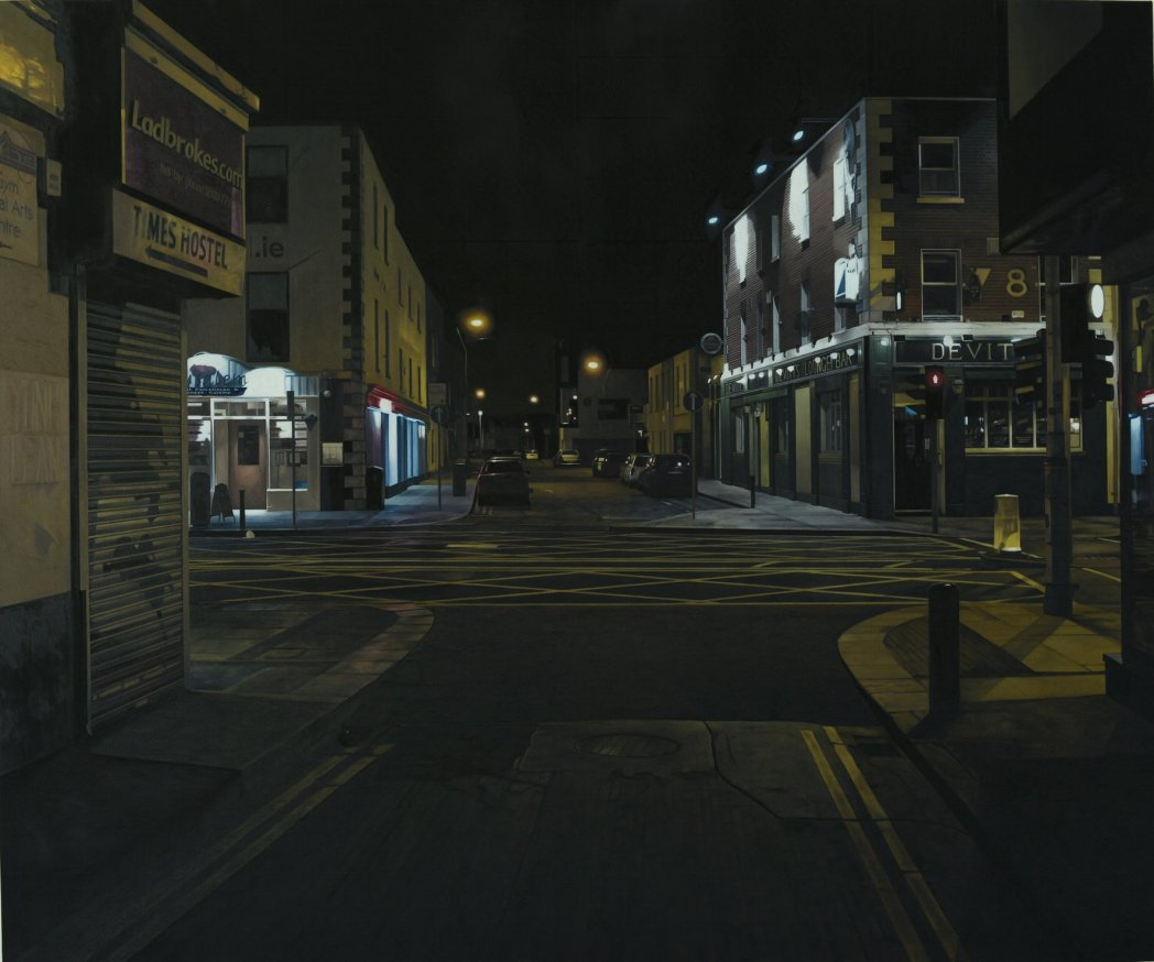 Francis Matthews,  Lower Camden St. , 2015, oil on canvas 100x120cm