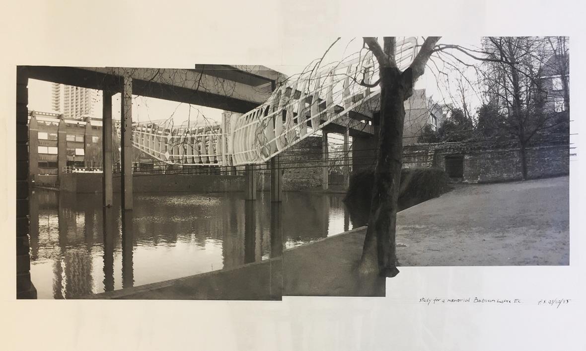 Fred Scott,  Study for a Memorial, Barbican Lake EC , 2015