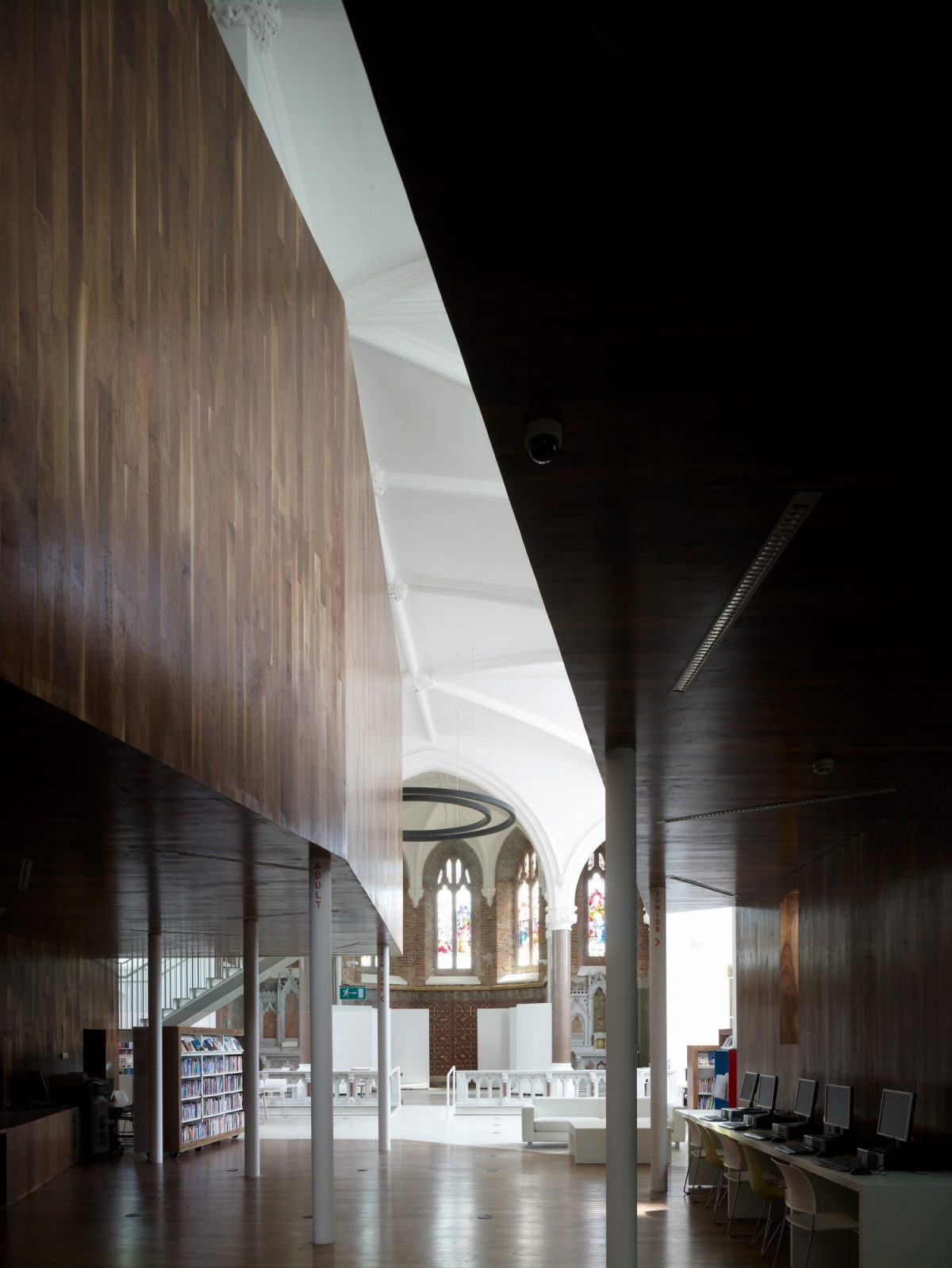 Rush Library by McCullough Mulvin Architects