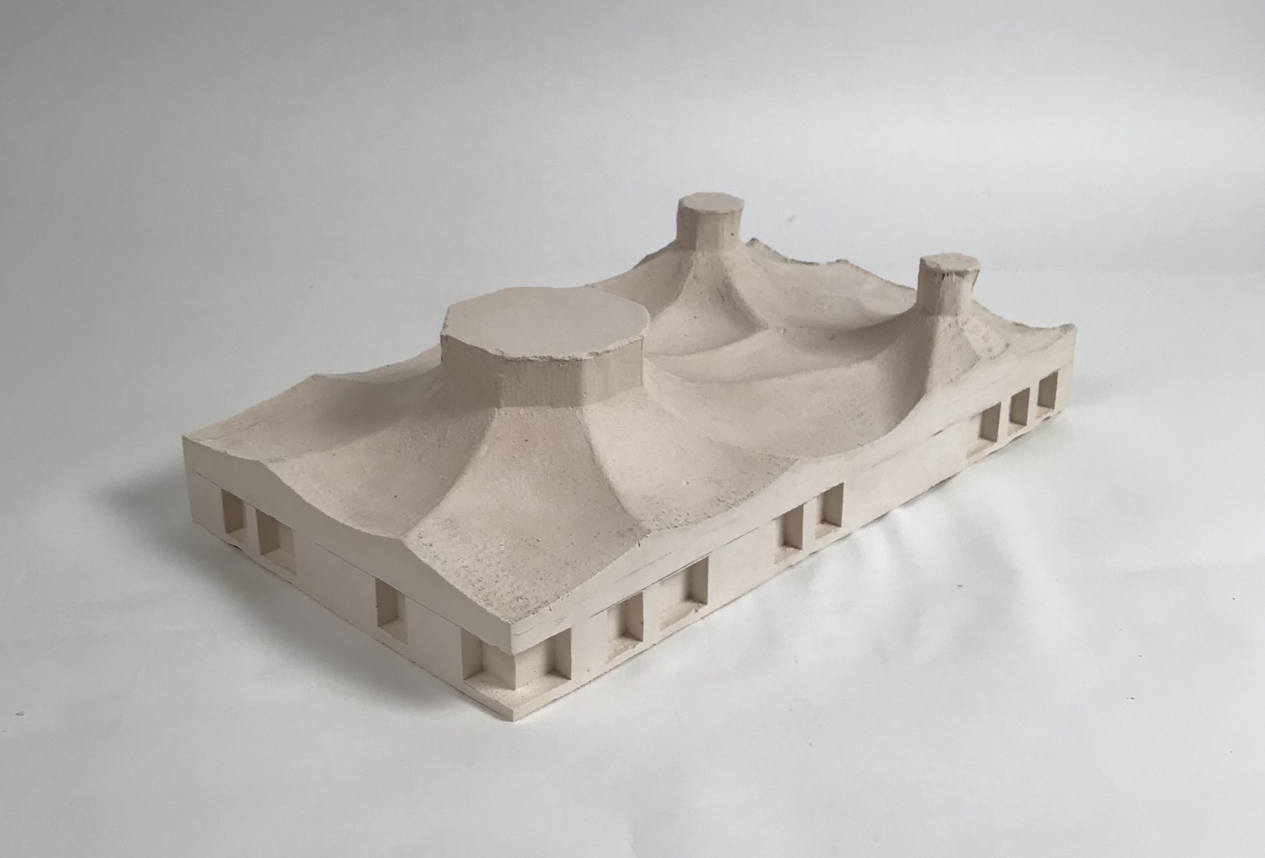 Detail model,1 to 100 scale, plaster