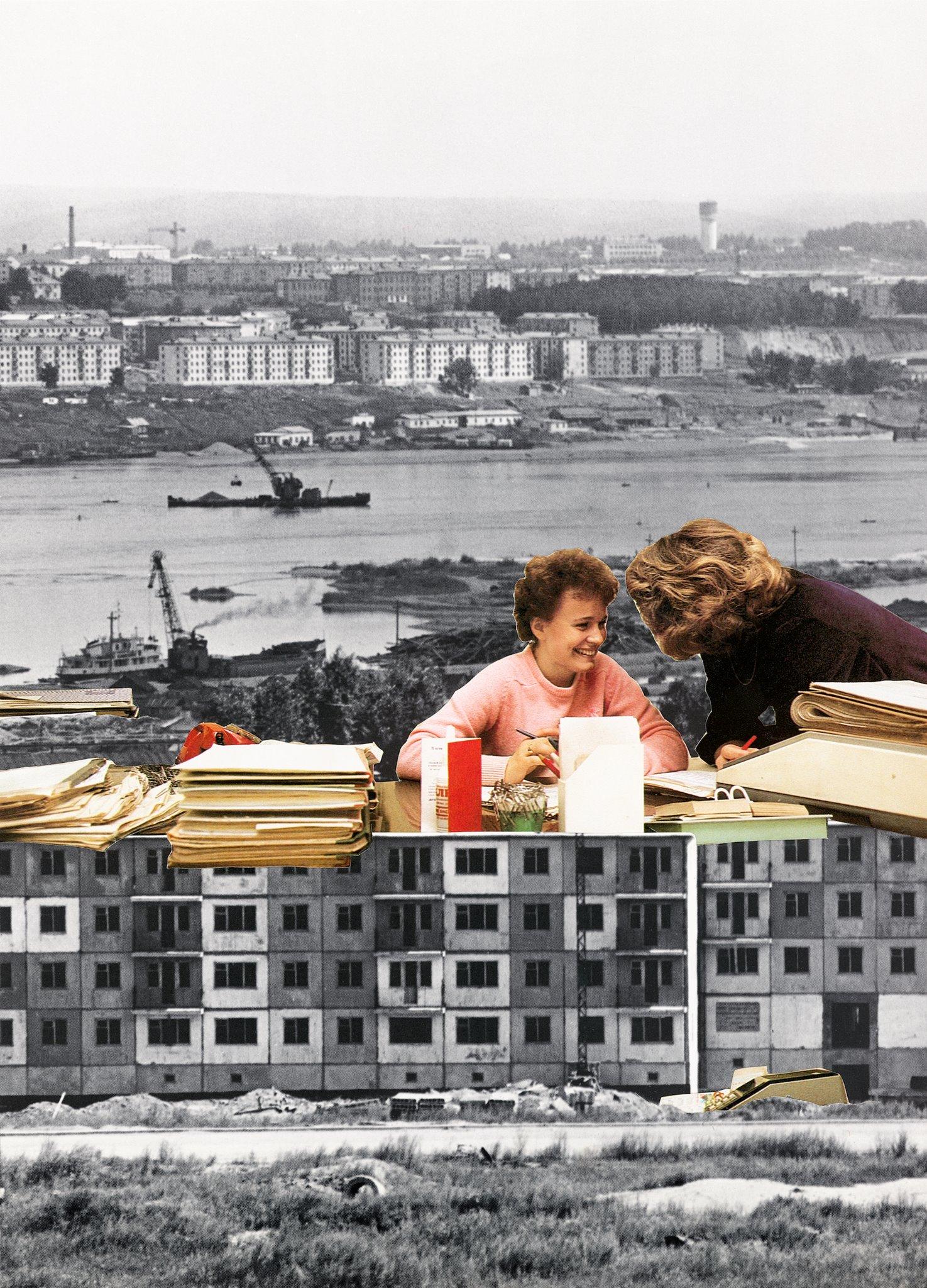 Tamara Stoffers,  Baku,  paper collage, 2019