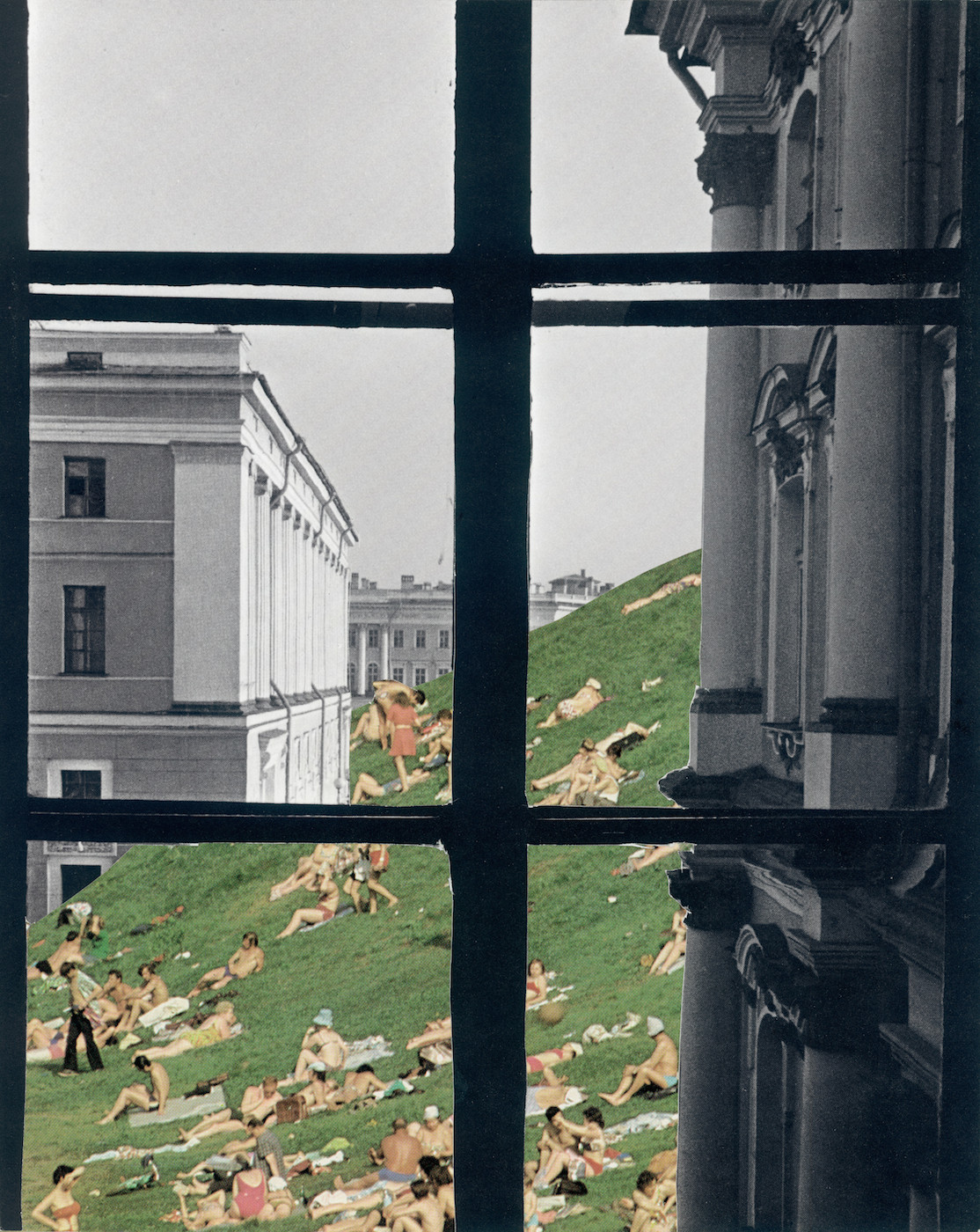 Tamara Stoffers,  Palace Square , paper collage, 2017