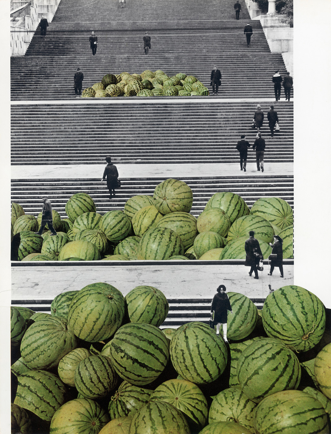 Tamara Stoffers,  Potemkin Stairs , paper collage, 2017