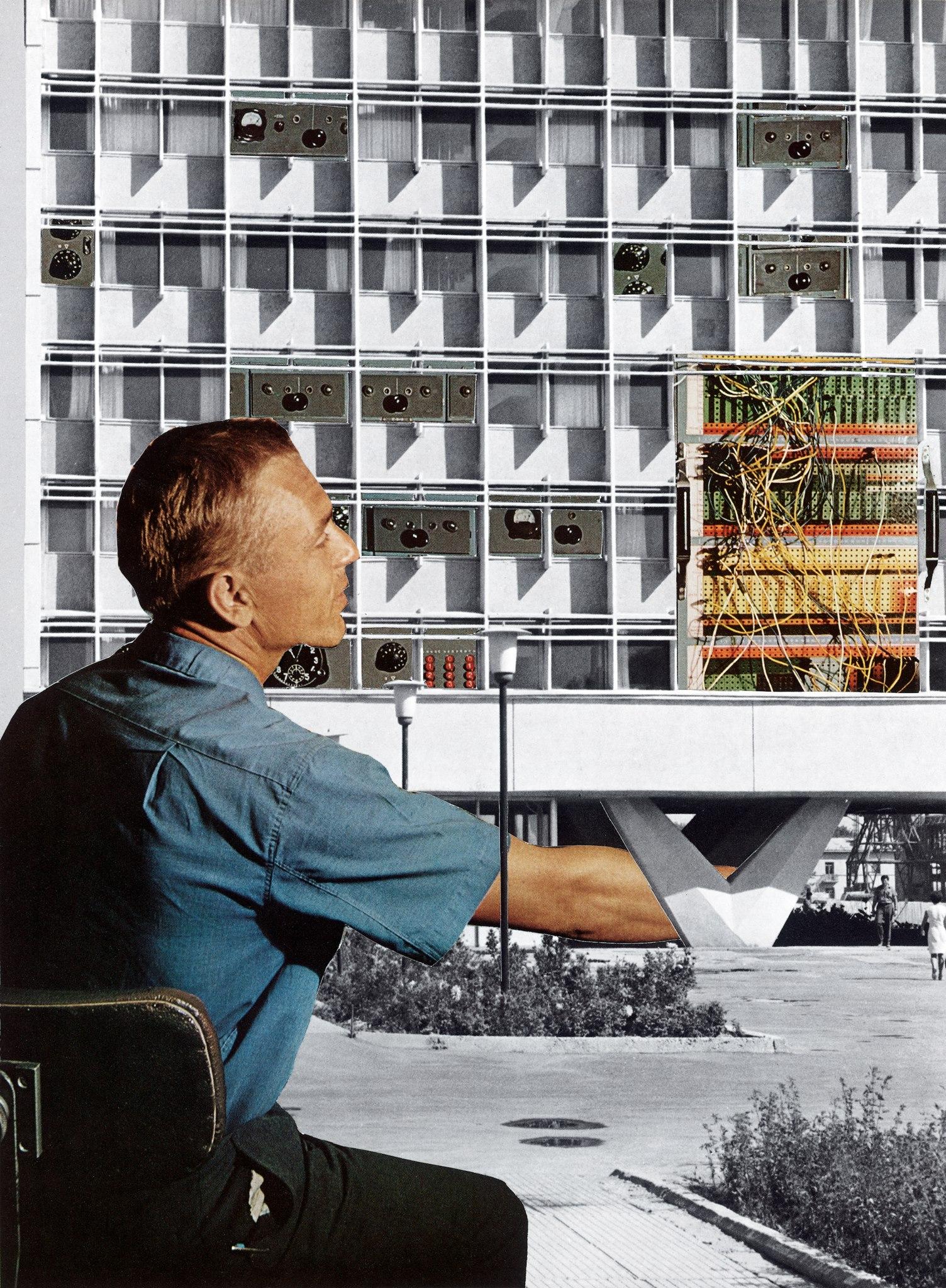 Tamara Stoffers,  Tashkent , paper collage, 2018