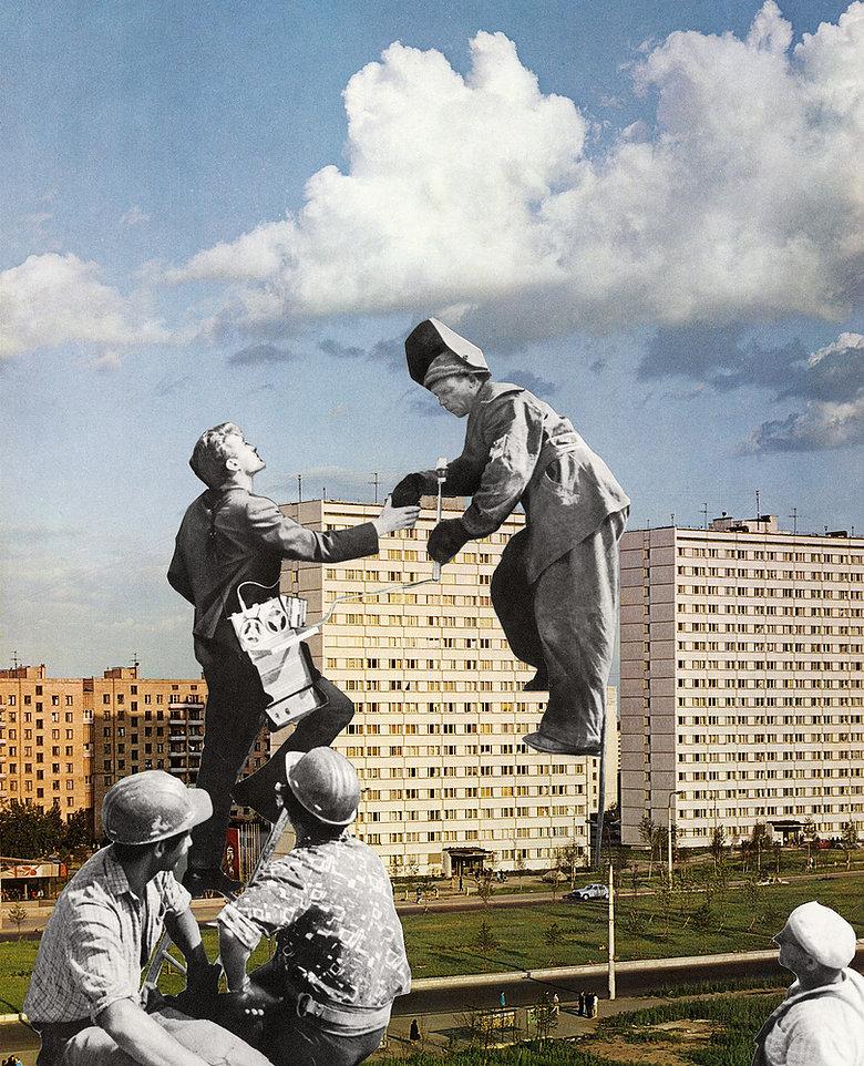 Tamara Stoffers,  Voronezh , paper collage, 2019