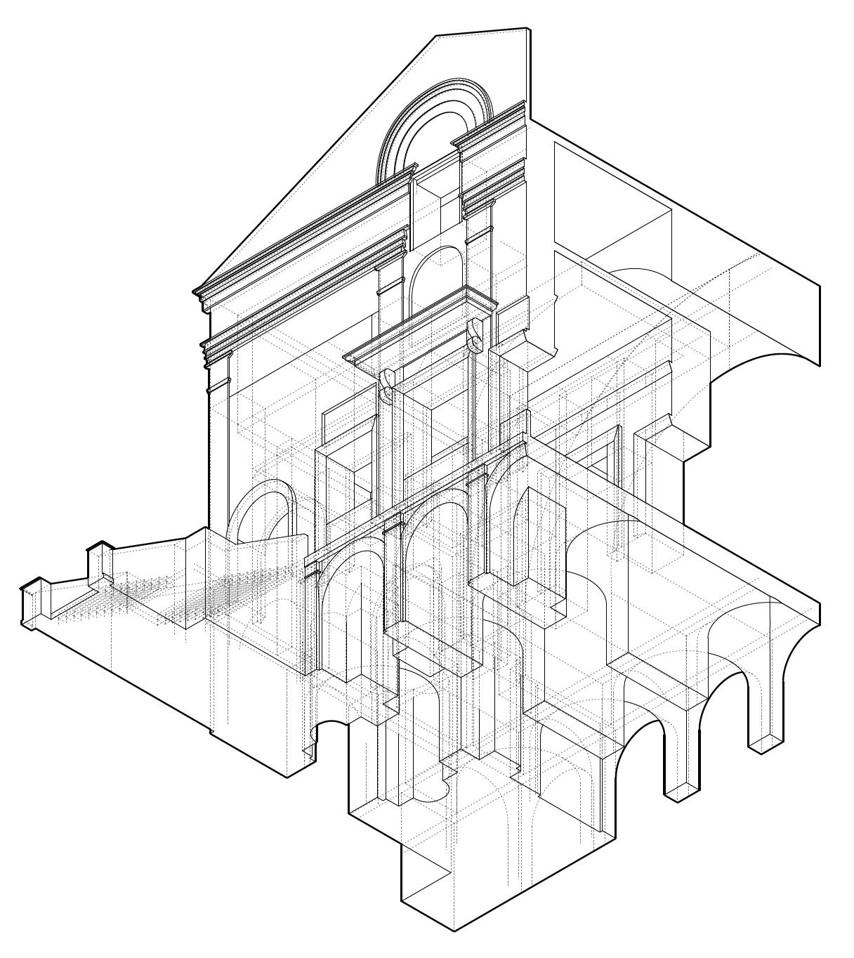 Historical Precedent: Threshold Study of Chiesa di San Sabastiano by Leon Battista Alberti