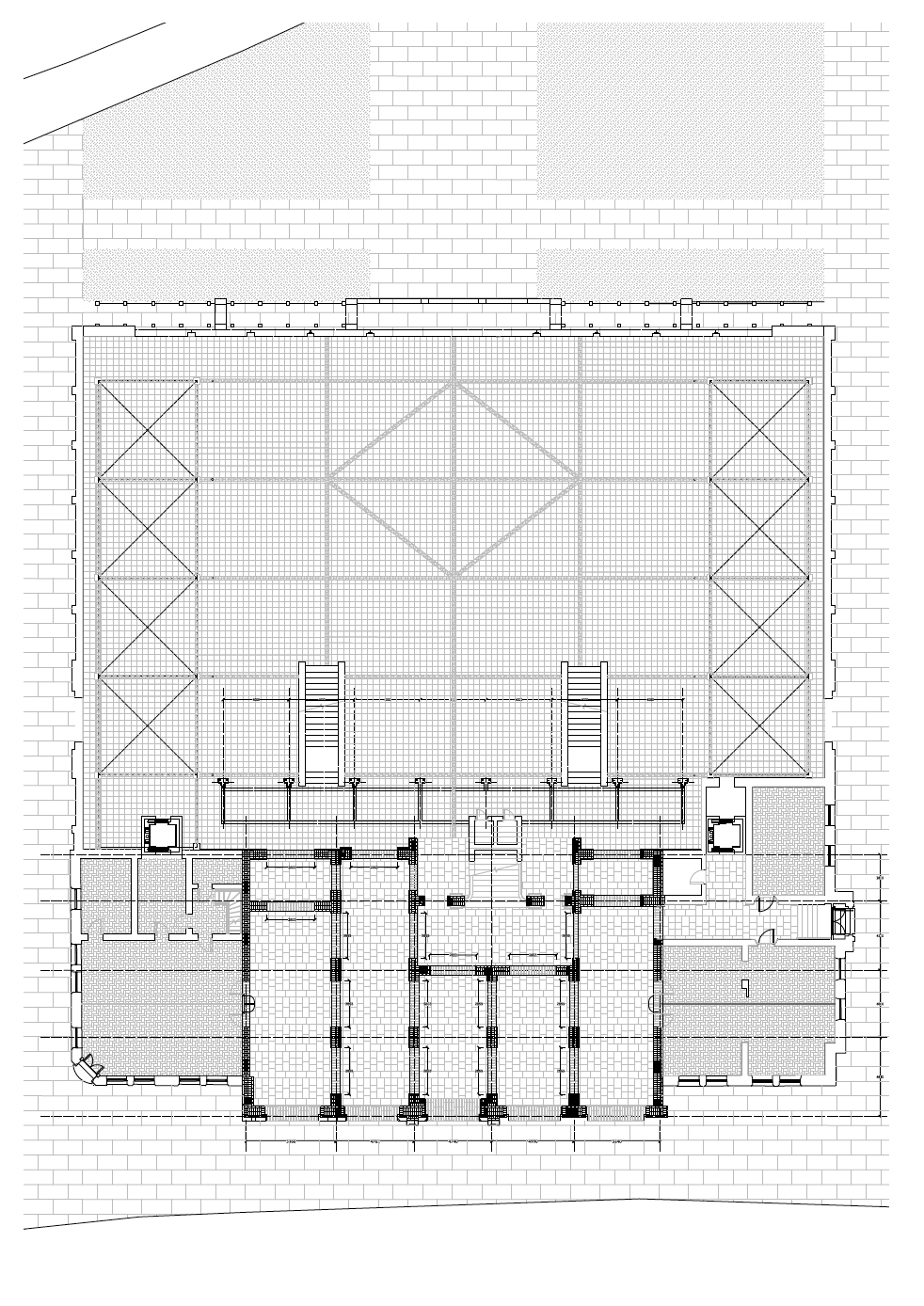 Proposal to open up the ground floor of the Town Hall to connect it to Market at the rear