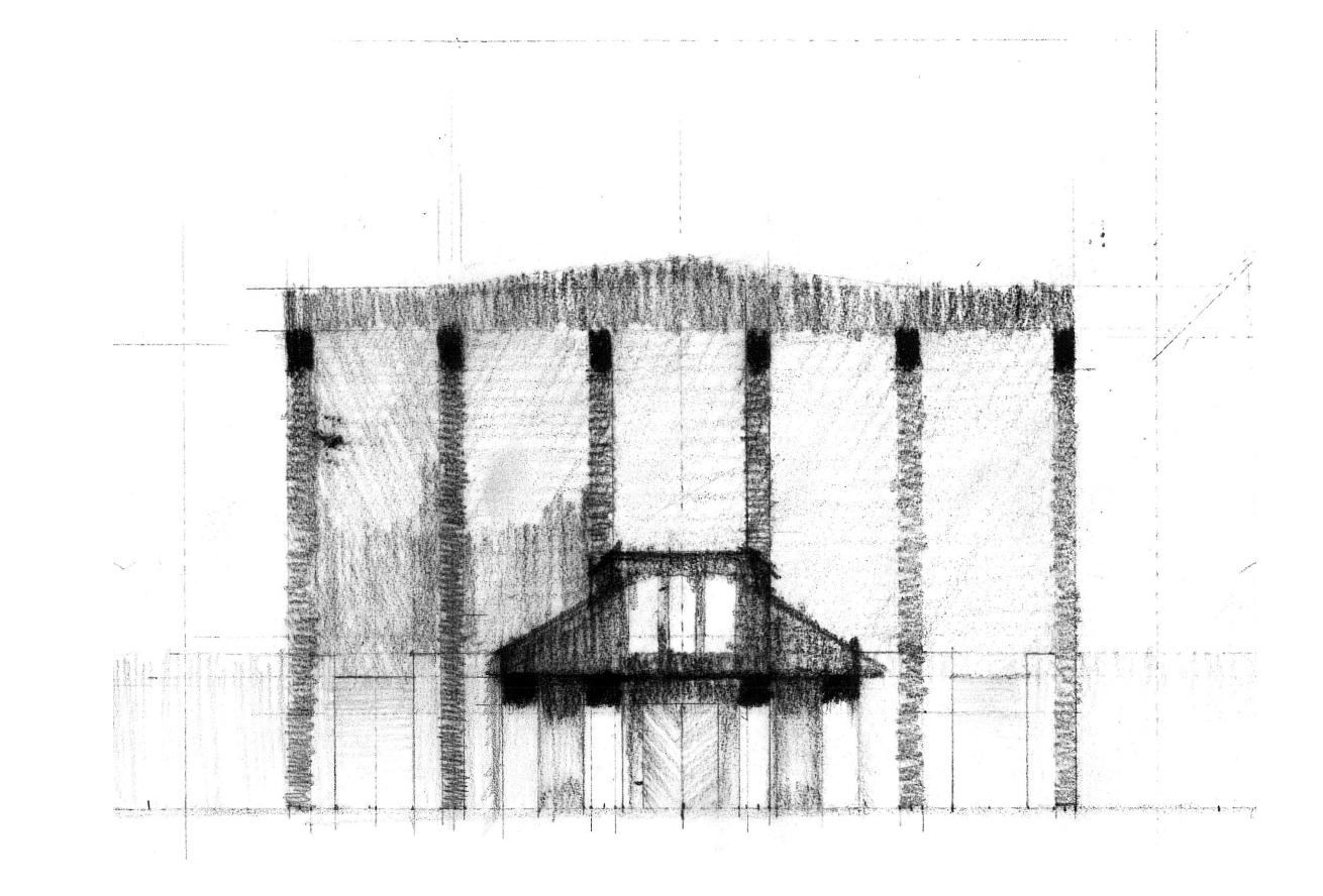 Sketch of proposed Vestibule on Market facade