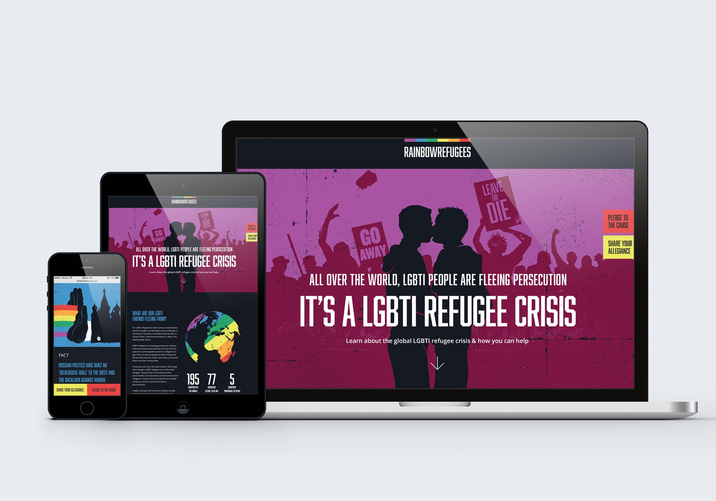 United Nations High Commissioner for Refugees:  Rainbow Refugee Crisis Campaign