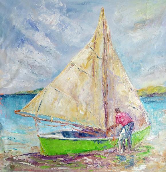 Susan Mains Green work boat.jpg