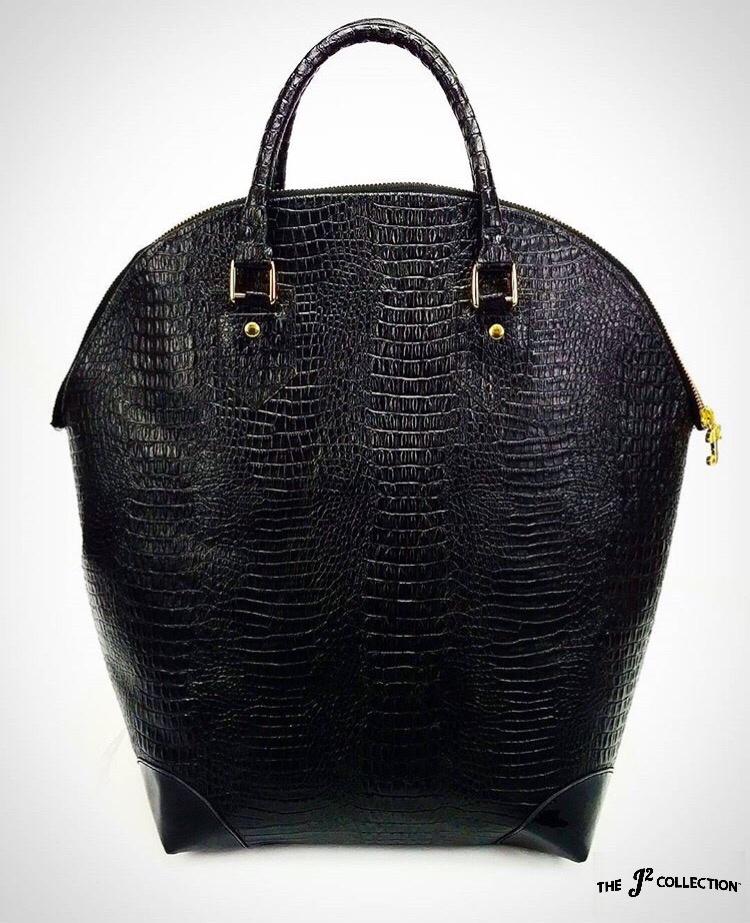 Black Exotic Bucket Tote -