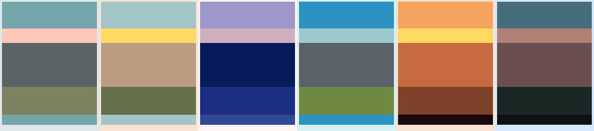 Howl's Moving Castle Color Palette