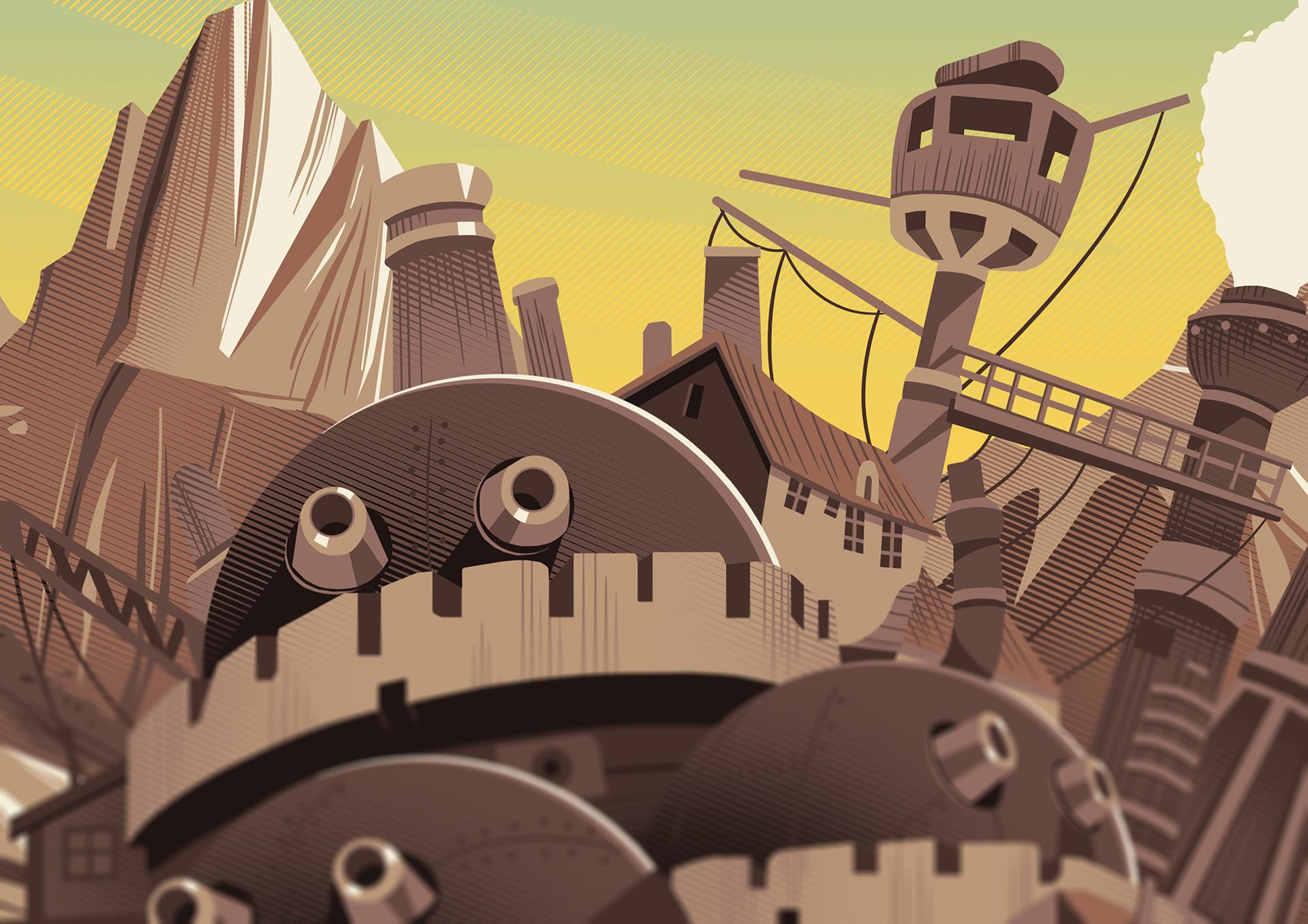 Howl's Moving Castle Landscape