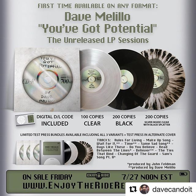 #Repost @davecandoit with @get_repost ・・・ First and only full length drops Friday July 27th ON VINYL with an added bonus download of some of the mixtapes I've released in the past. 15 years in the making finally coming to life thanks to @enjoytheriderecords @davecandoit