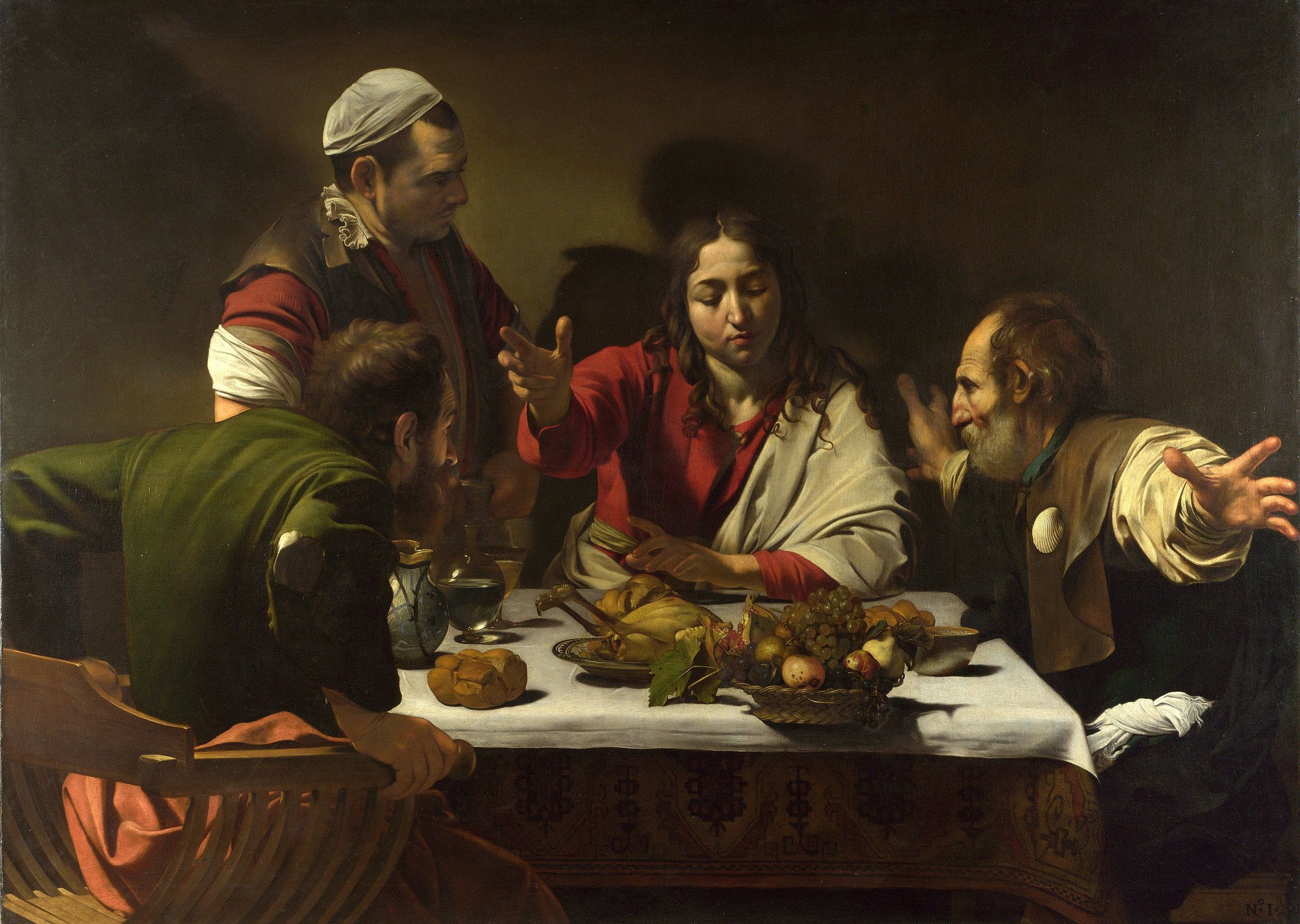 'The Supper at Emmaus' by Michelangelo Merisi da Caravaggio (National Gallery, London)