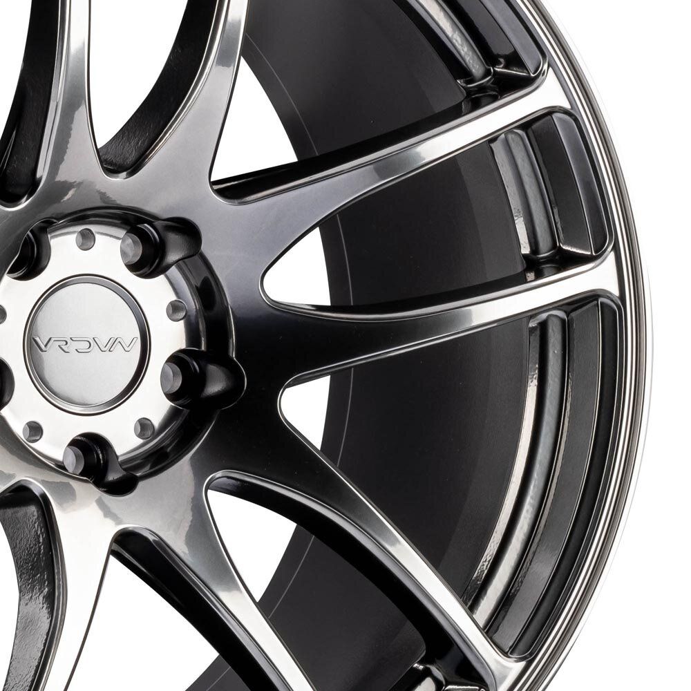 One 18x9.5 Vordoven Forme 9 5x114.3 22 Hyper Black Wheel Rim 73.1