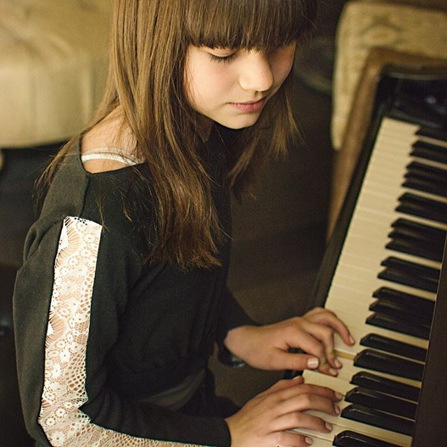 LOVE this photo of Maycee playing piano in our Lacey Lady top!! I always picture this top with a black circle skirt that twirls! What would you wear with it?  Photographer: @hannah_amaryllis  Model: @mayceetaylor0107