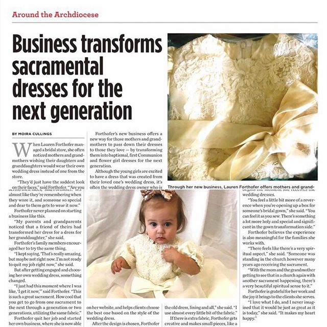 My heart cannot take this much love everyone!!! 💜 thank you to @denvercatholic for such a wonderful article about the transformation side of my business! My head is dizzy with excitement!