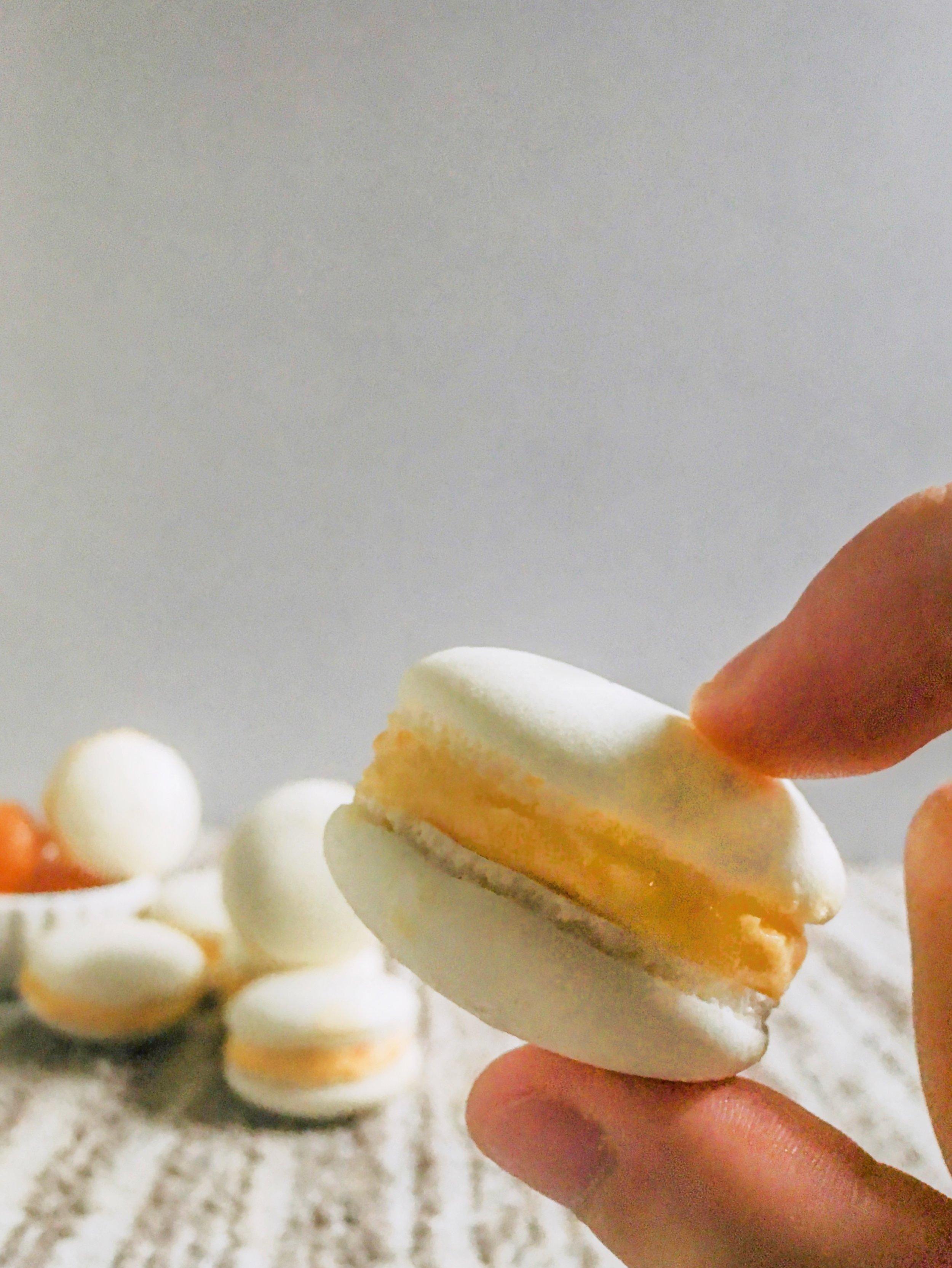Salted Egg Yolks Macarons