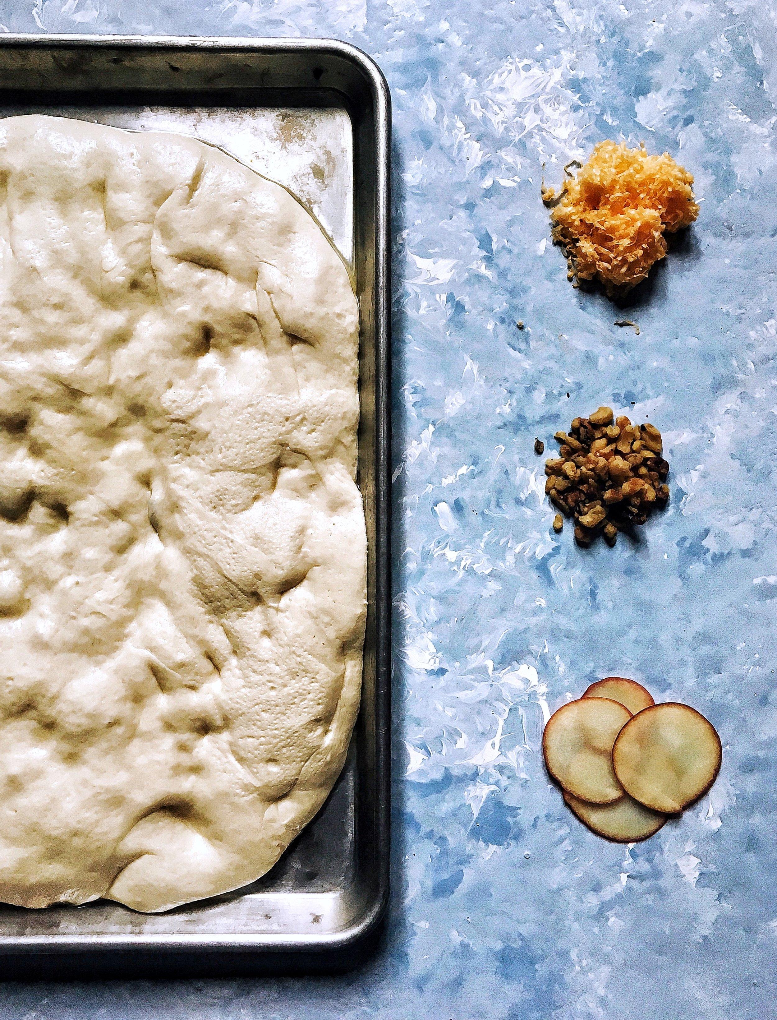 Apple Cheddar Walnut Focaccia