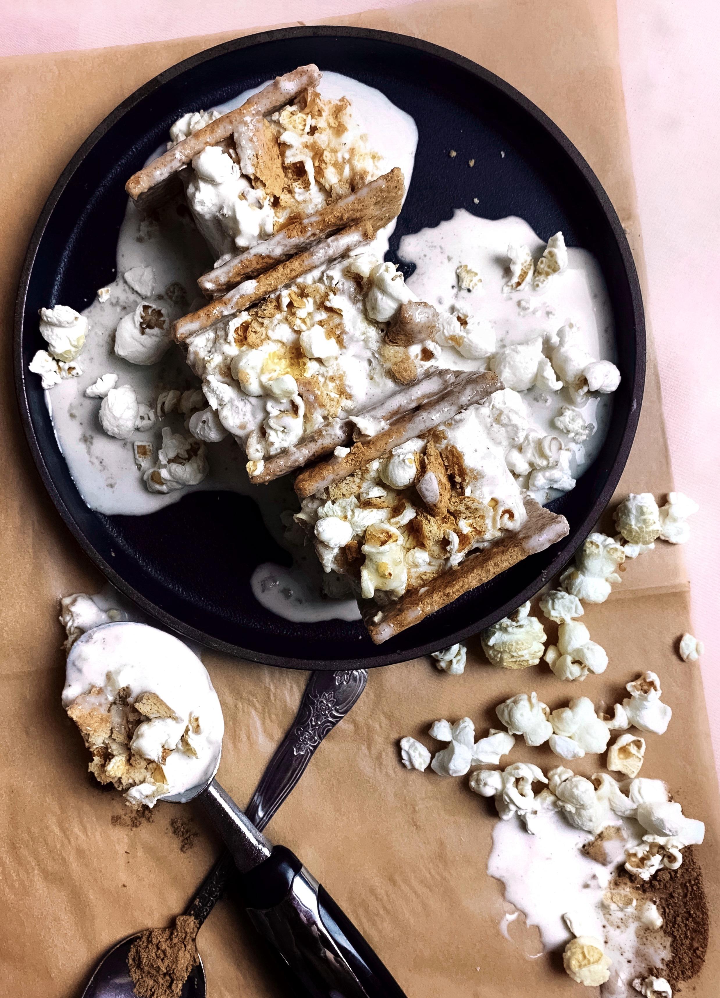 No-Churn Popcorn Five Spice Ice Cream Sandwiches - Brad & Butter | Oct 7, 2019