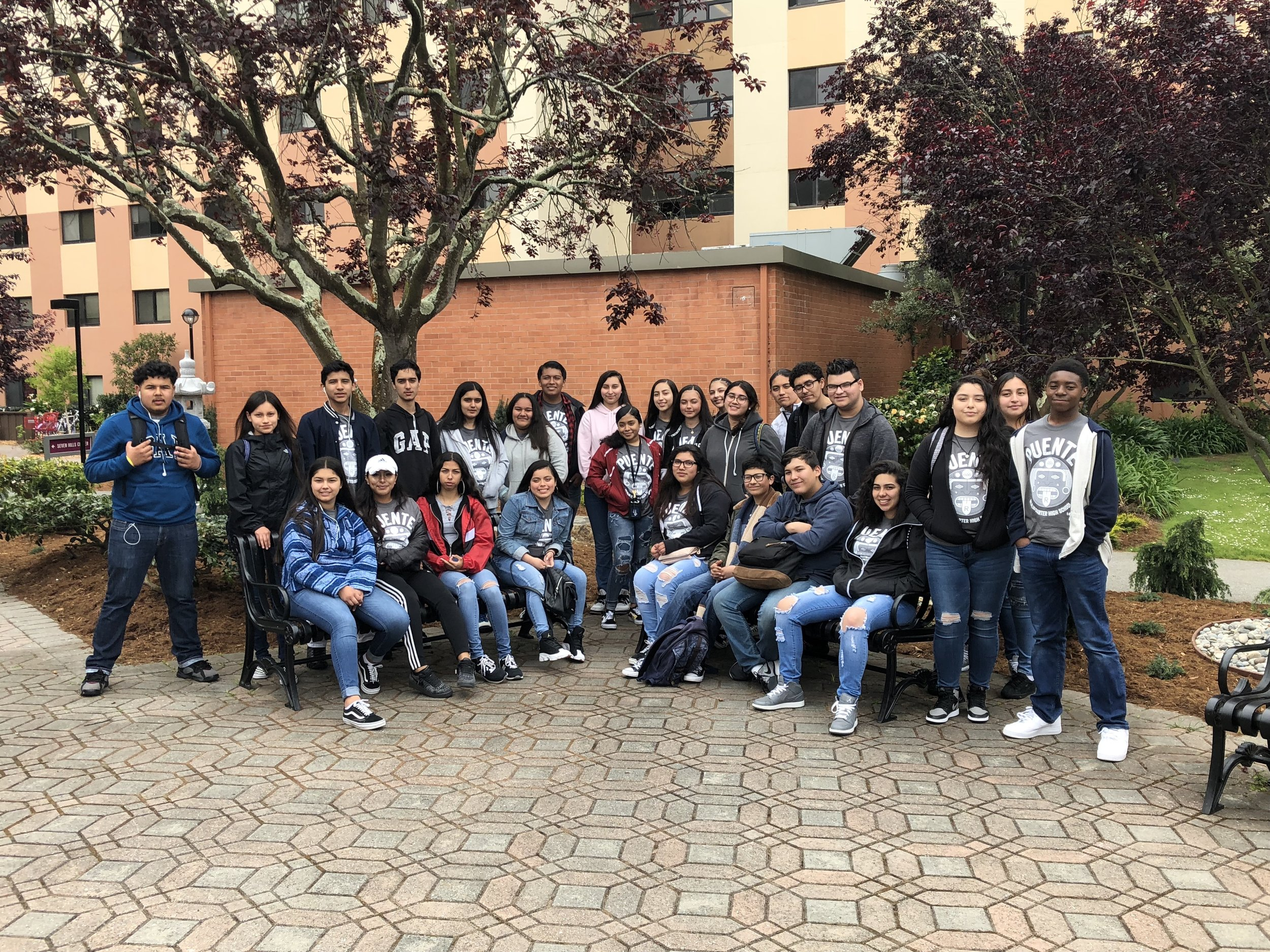 REALM Puente students visiting SF State in May 2018