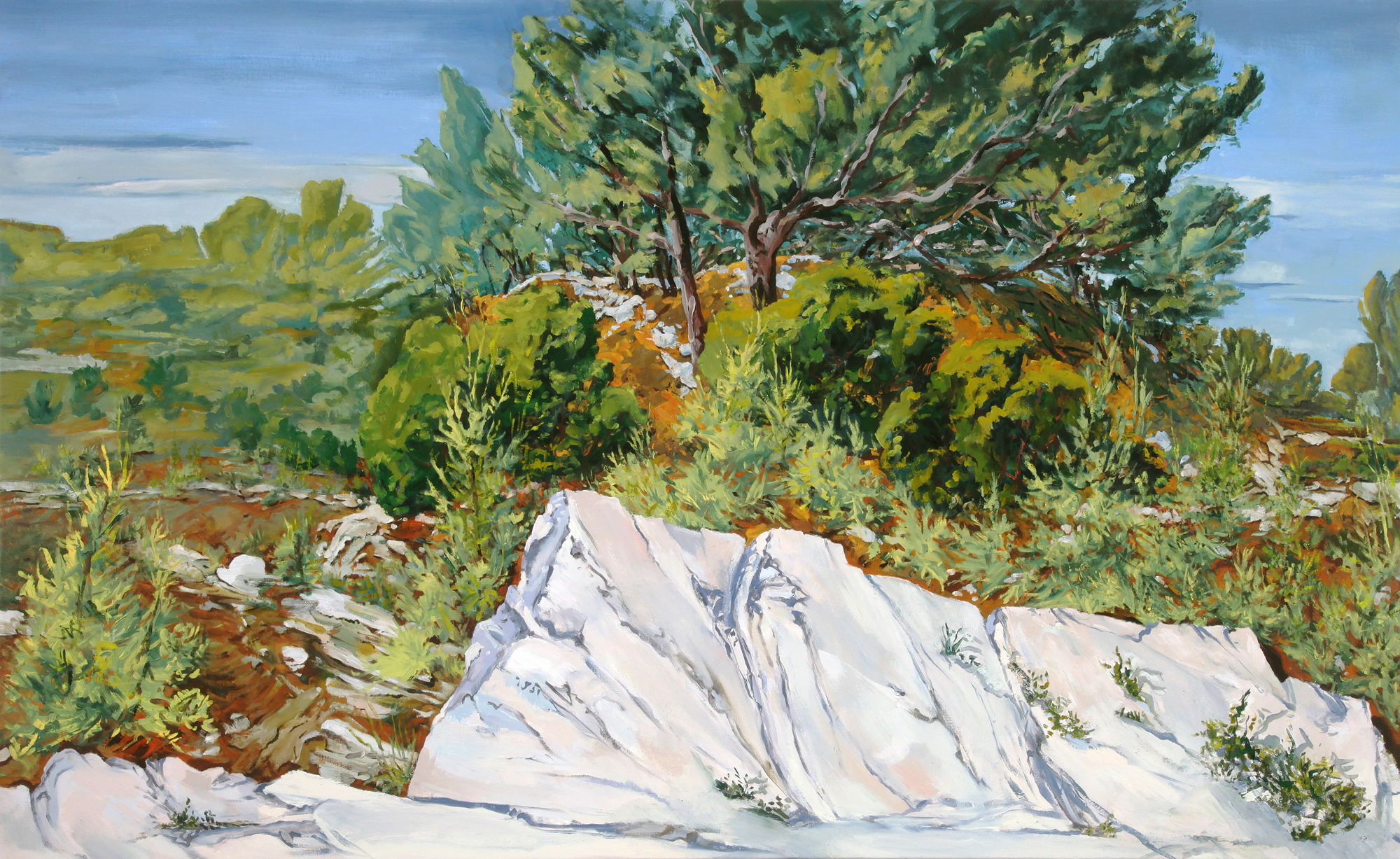 """""""View from the Road to Massaune, Les Baux, France"""""""