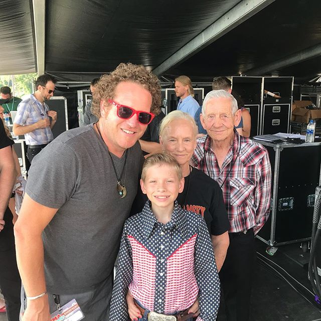 Mason Ramsey is the real thing folks.  The future of country music is safe with him coming up! So great to be able to meet him and his grandparents and introduce him today for a surprise performance on the @cma Riverfront stage. @lilhankwilliams @cmafest #yodeling #yodelingkid #hankwilliams #countrymusic