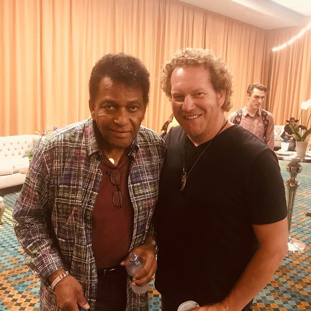 Today I got to meet @charley_pride_official #wow #hero @cma #cmafest