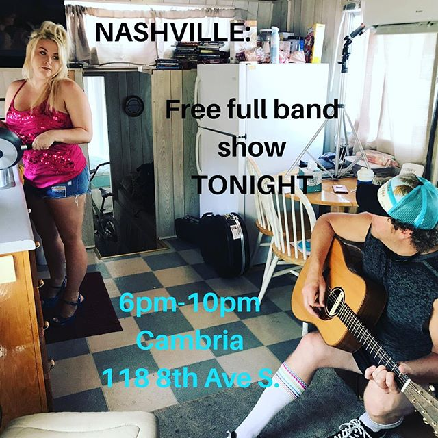 Hello #nashville , I need yer help please... we want a packed house at our free show tonight / music video shoot so come on down to the @cambrianashville from 6pm -10pm to be a part of the fun!  #please #musicvideo #musiccity #visitmusiccity @visitmusiccity #countrymusic  @rachelholder1 @zackrobertsonguitar @rextonlee @chadmbryant