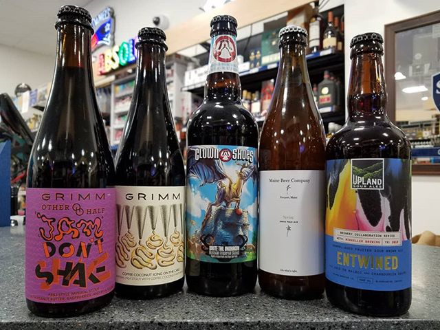 New beers from @clownshoesbeer @uplandbrewco @mainebeerco & @grimmales , featuring a Grimm collab with @otherhalfnyc