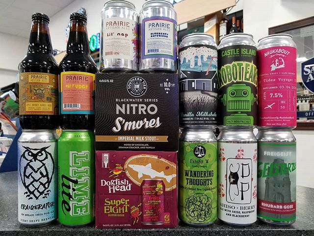 Lots of new local beer this week, plus an epic @prairieales drop and some other goodies