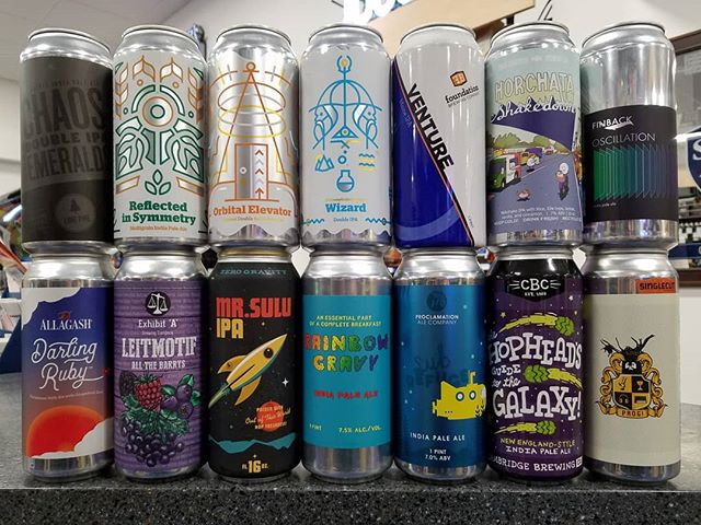 Lots of cans from all over the Northeast this week. Be sure to stop in!